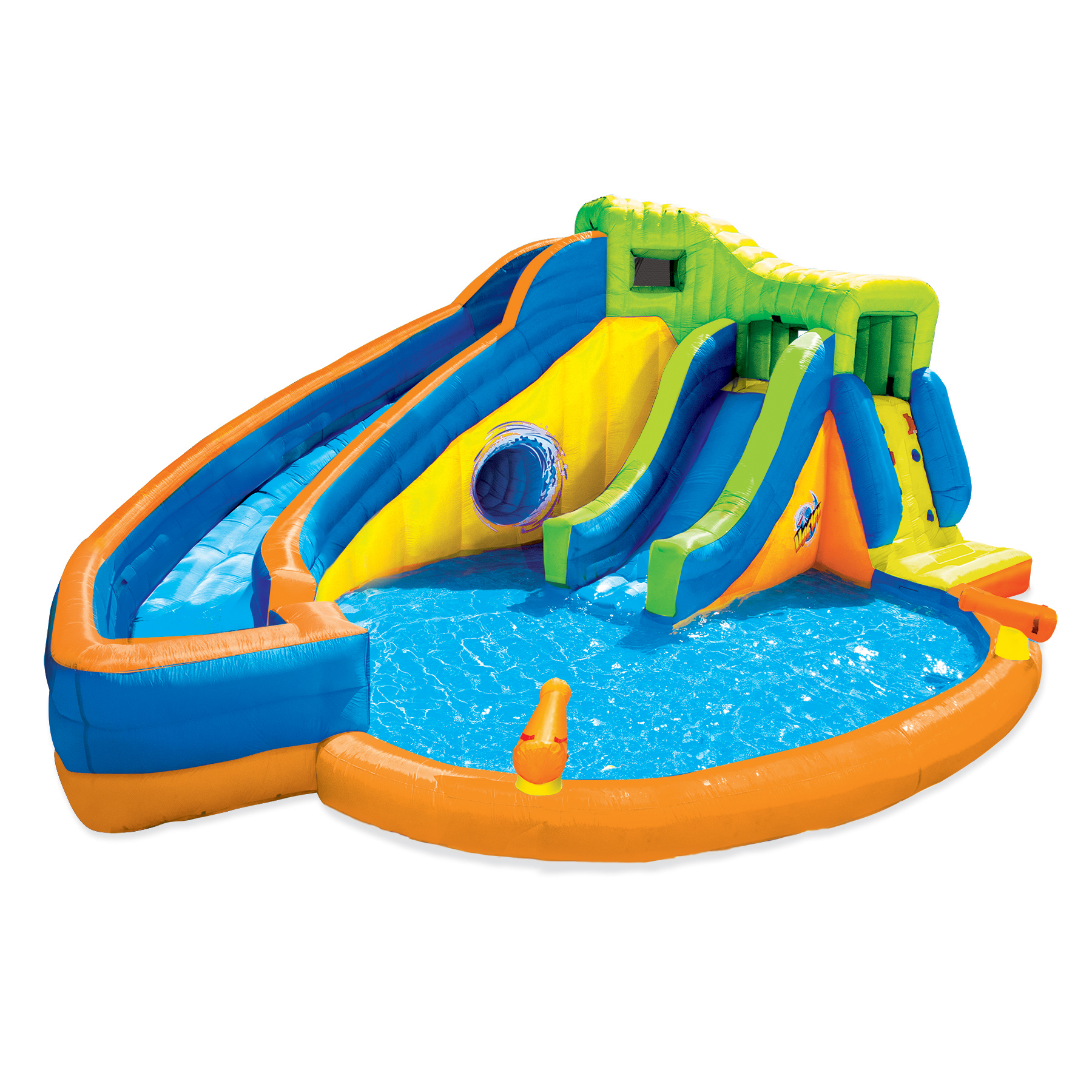 banzai pipeline twist kids inflatable outdoor water park pool