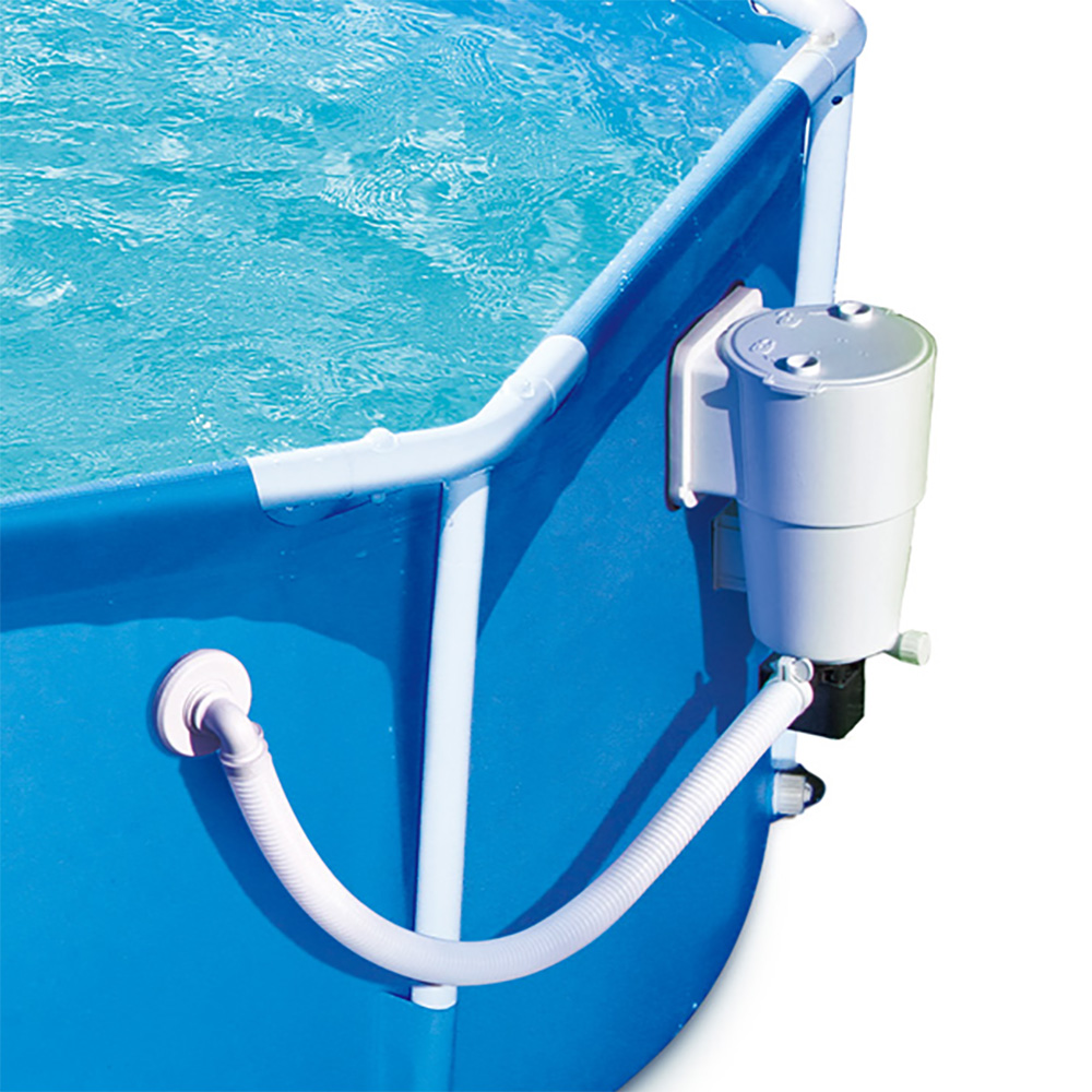 Summer Waves 8 39 Ft Metal Frame Above Ground Pool With Filter Pump Ebay