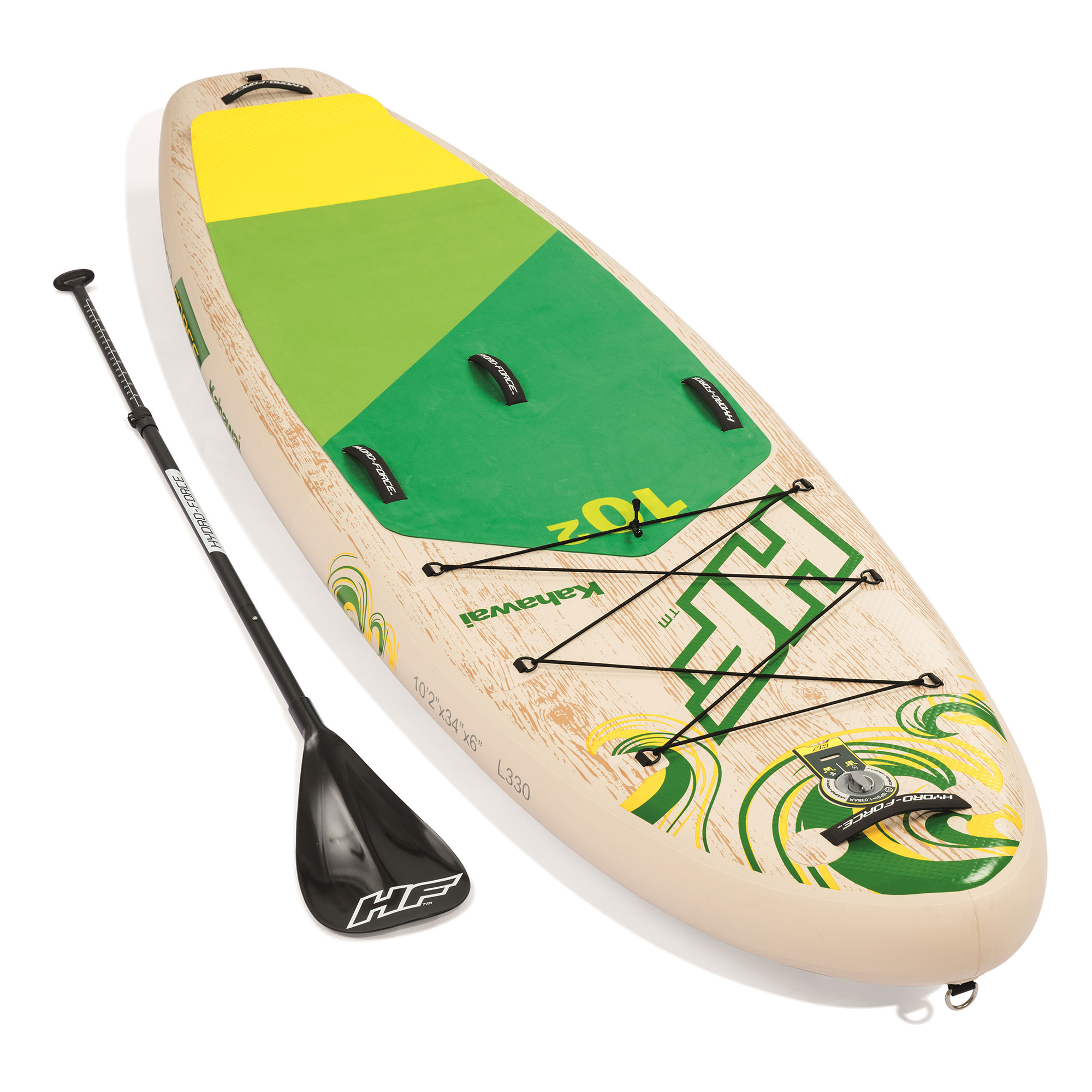 Bestway Hydro Force Kahawai 10 Foot Inflatable SUP Paddle Board Package w   Pump 8894071ce7
