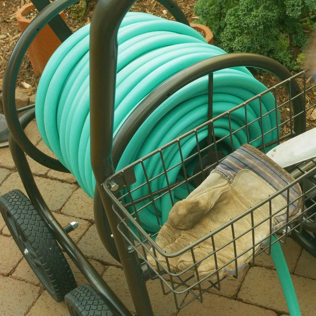 Liberty Garden Products 4 Wheel Residential Hose Reel Cart ...