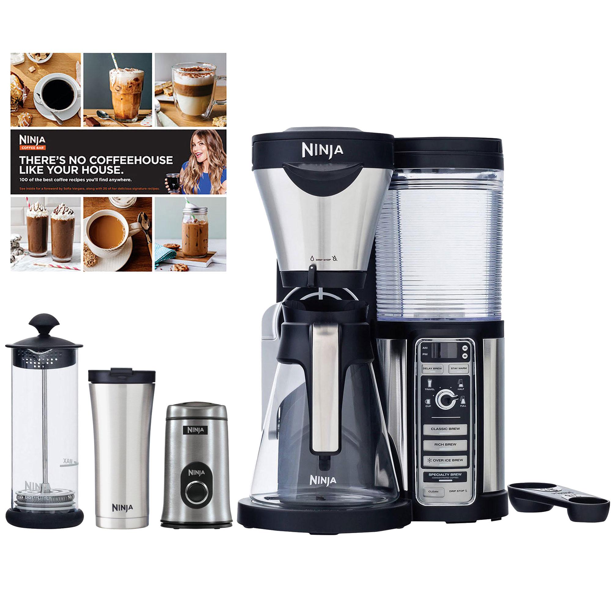 Ninja Coffee Bar, Carafe, Frother, Travel Mug & Grinder (Certified Refurbished) eBay