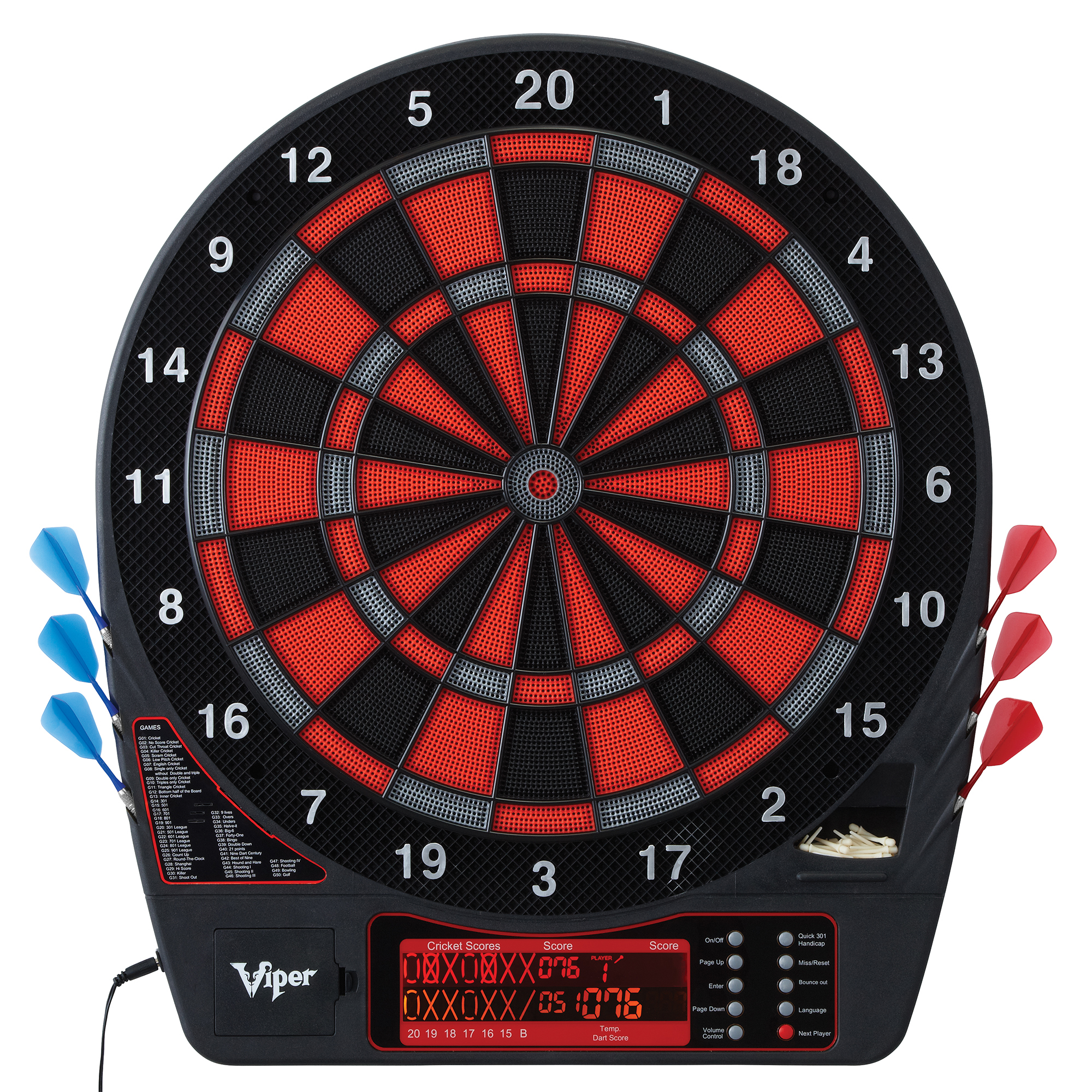 Viper Specter Electronic Soft Tip Dartboard Cabinet Set With Darts