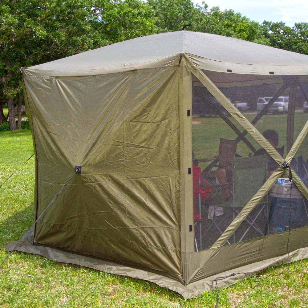 Portable Outdoor Kitchens: Clam Quick Set Escape Portable Camping Outdoor Canopy