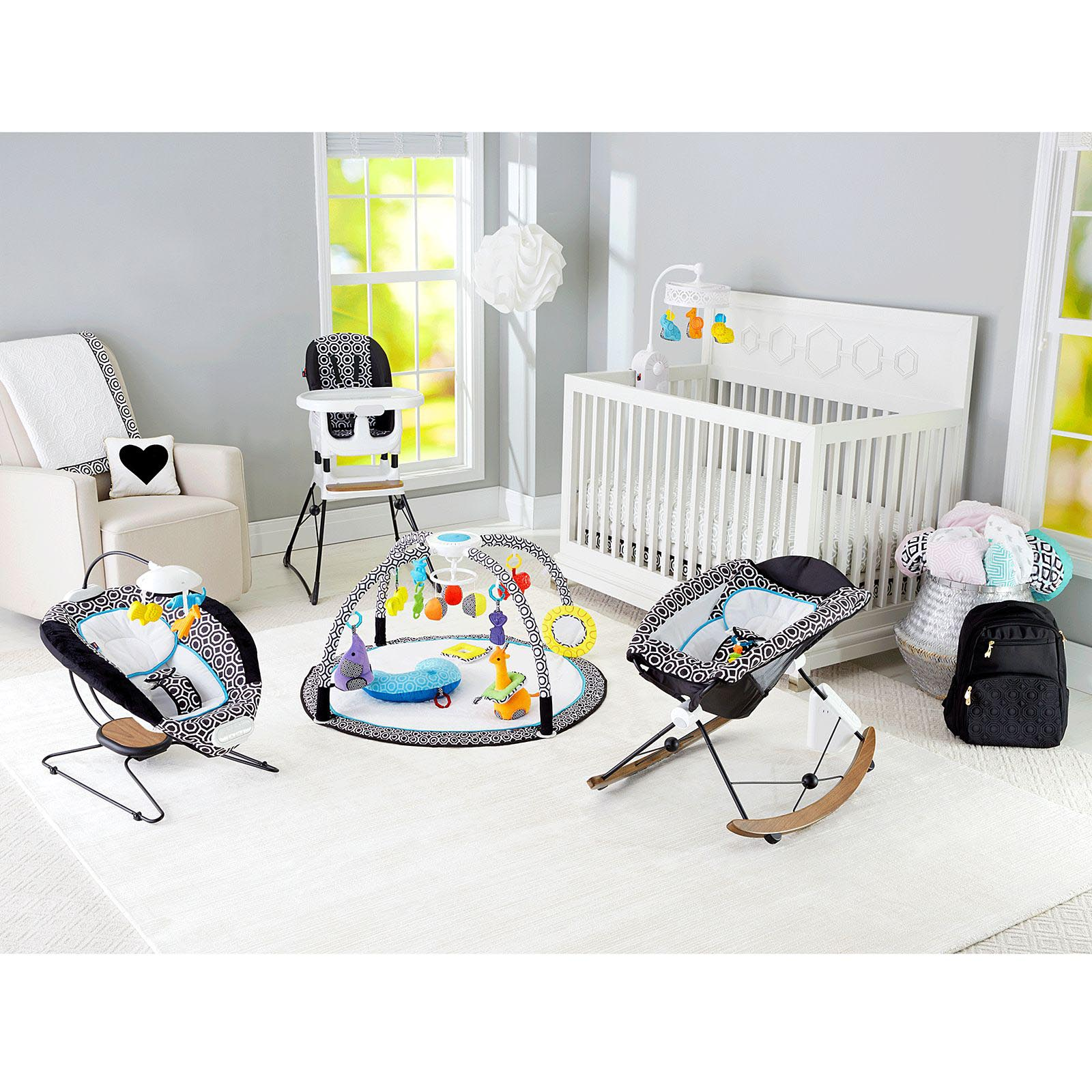 Fisher Deluxe 2 In 1 Baby High Chair Toddler Booster Spacesaver Highchair
