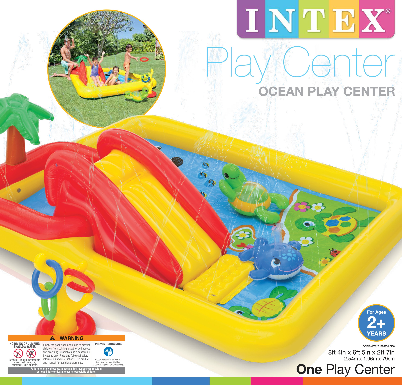 Intex Inflatable Ocean Play Center Kids Backyard Kid Pool w
