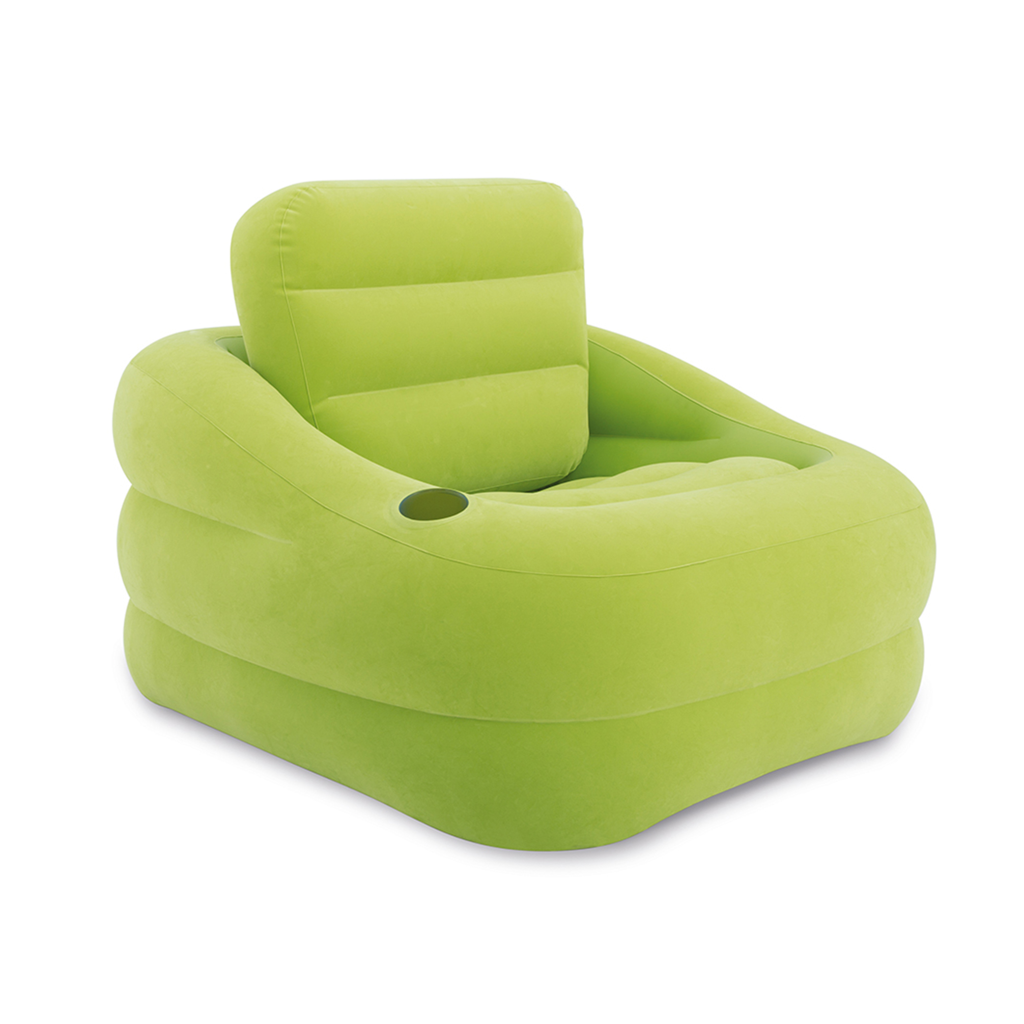Inflatable Lawn Furniture: Intex Inflatable Indoor Or Outdoor Accent Chair With Cup