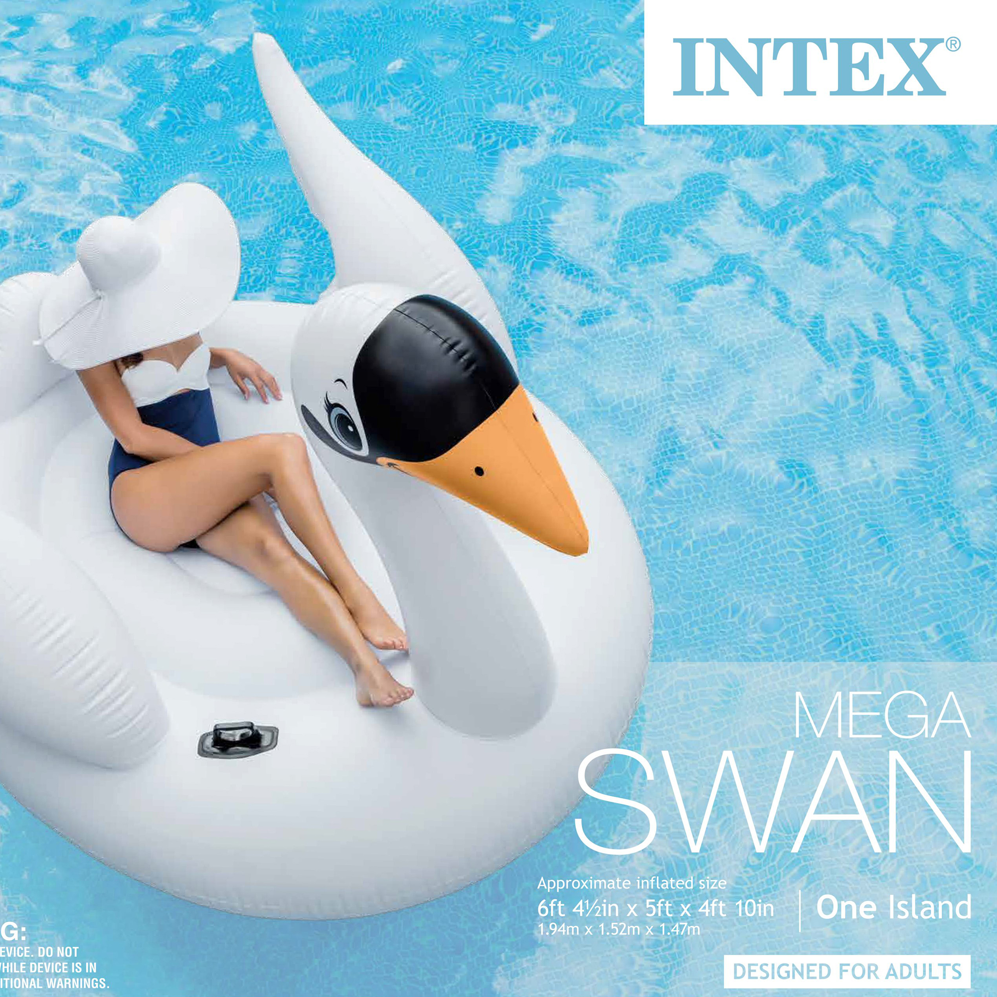 Intex Mega Swan and Pink Flamingo Island Inflatable Swimming Pool