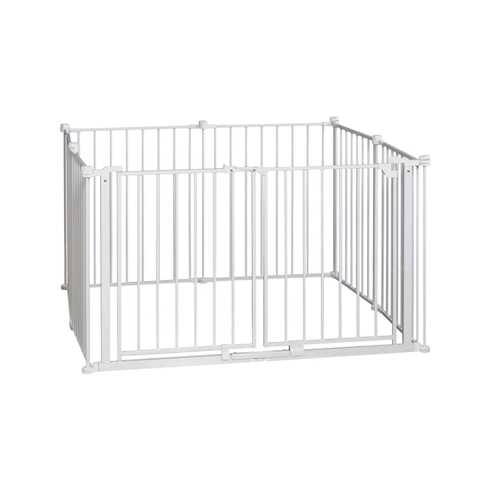 Regalo 8 Panel Metal Frame Double Door Super Wide Baby Gate & Play ...