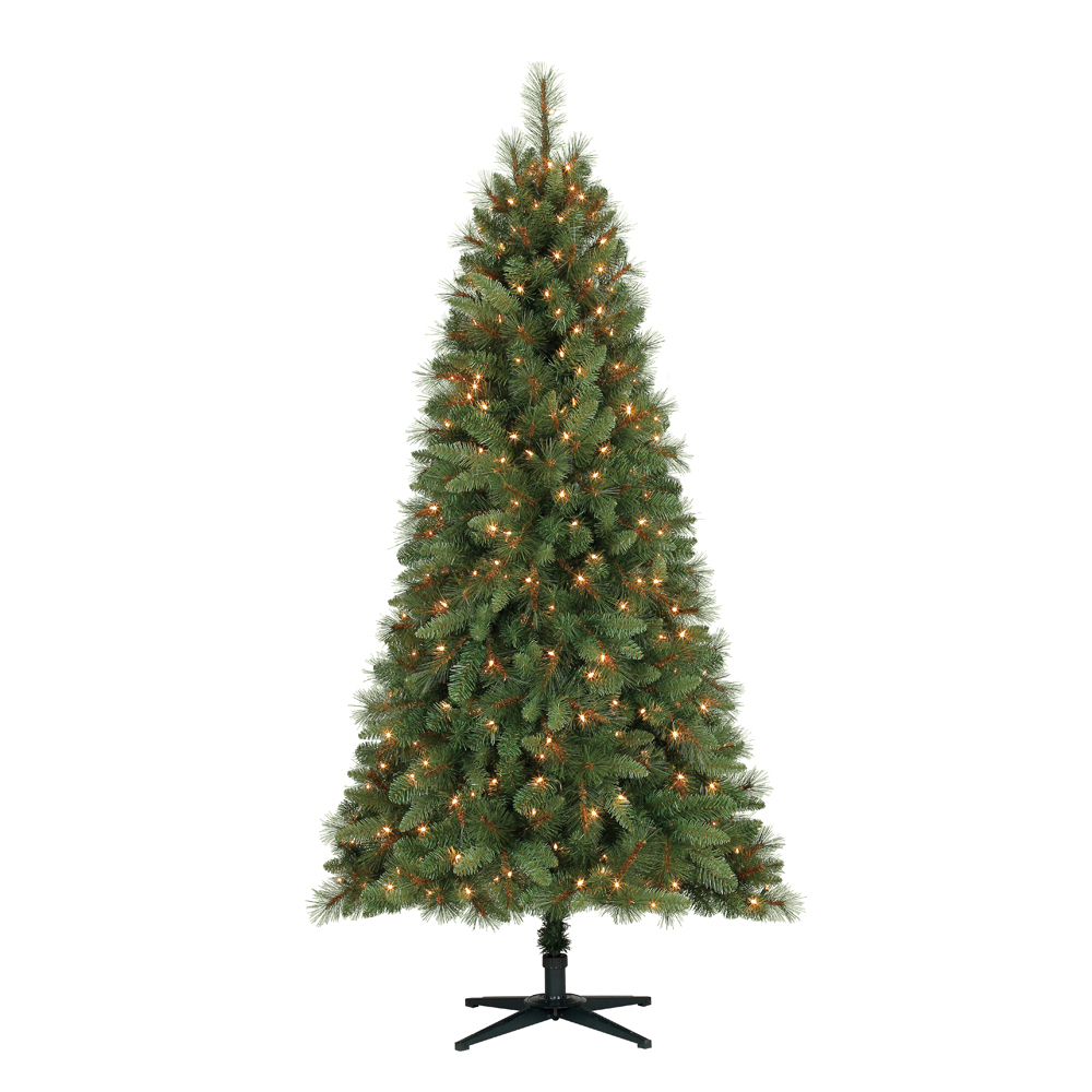 Ft crestwood pine pvc christmas tree with clear or