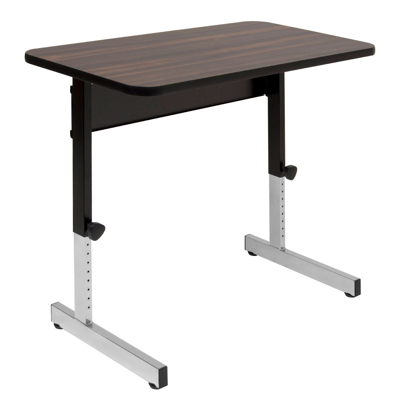 Studio Designs Adapta Table 36 X 20 Top Manual Height Adjule Desk Walnut
