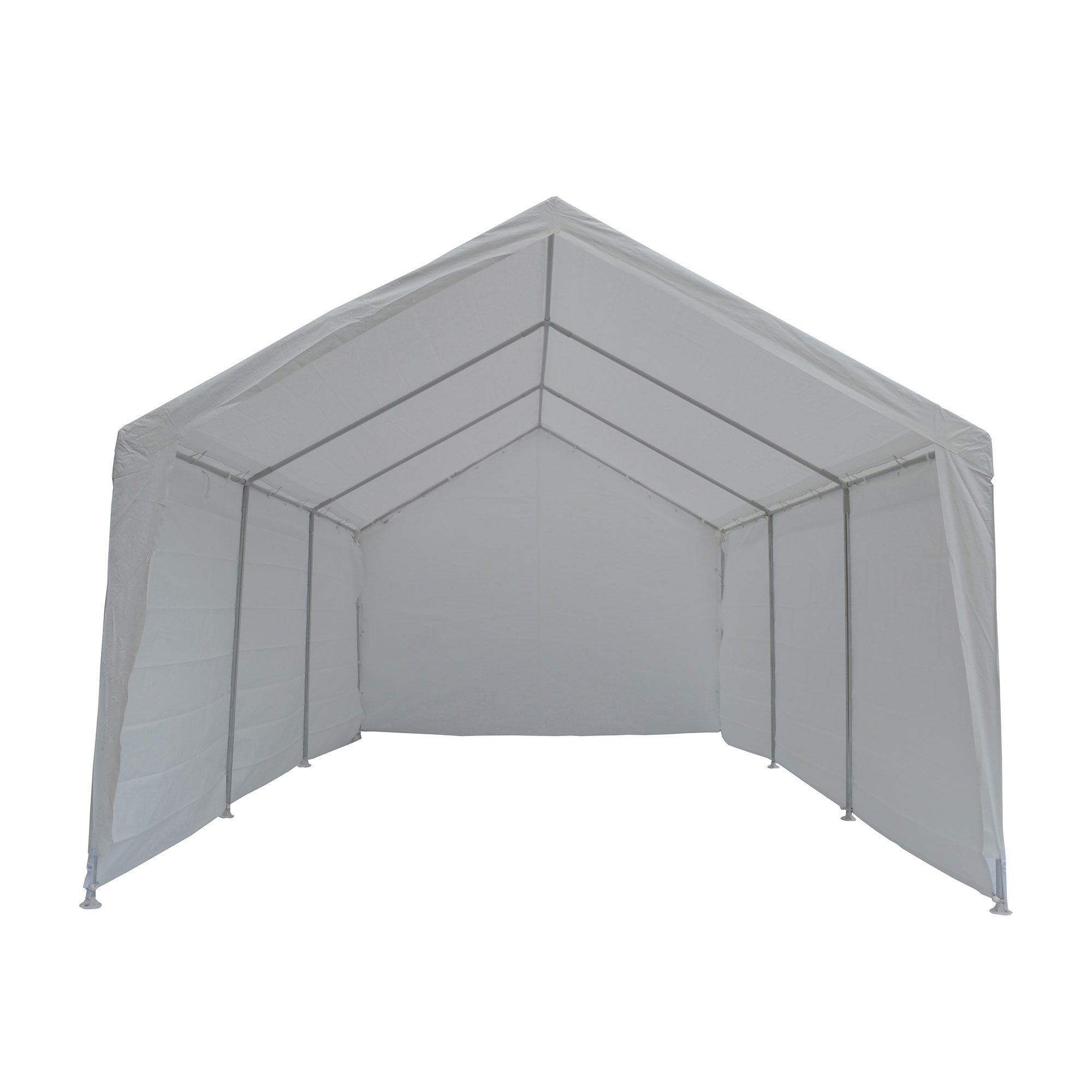 True Shelter 10 X 20 Car Canopy Gazebo Tent Cover 8 Legs Steel