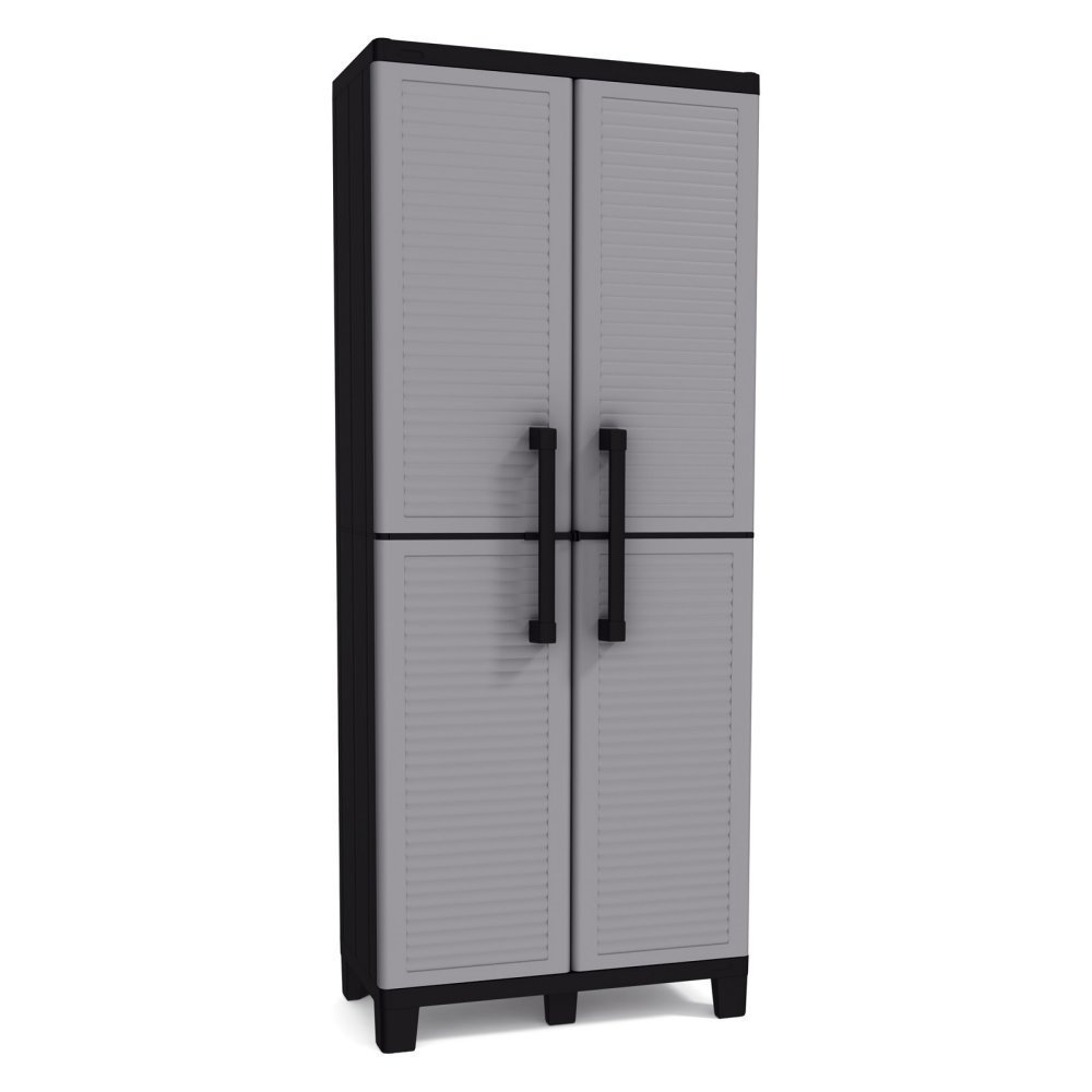 resin storage cabinets keter space winner adjustable garage storage gray resin 25504
