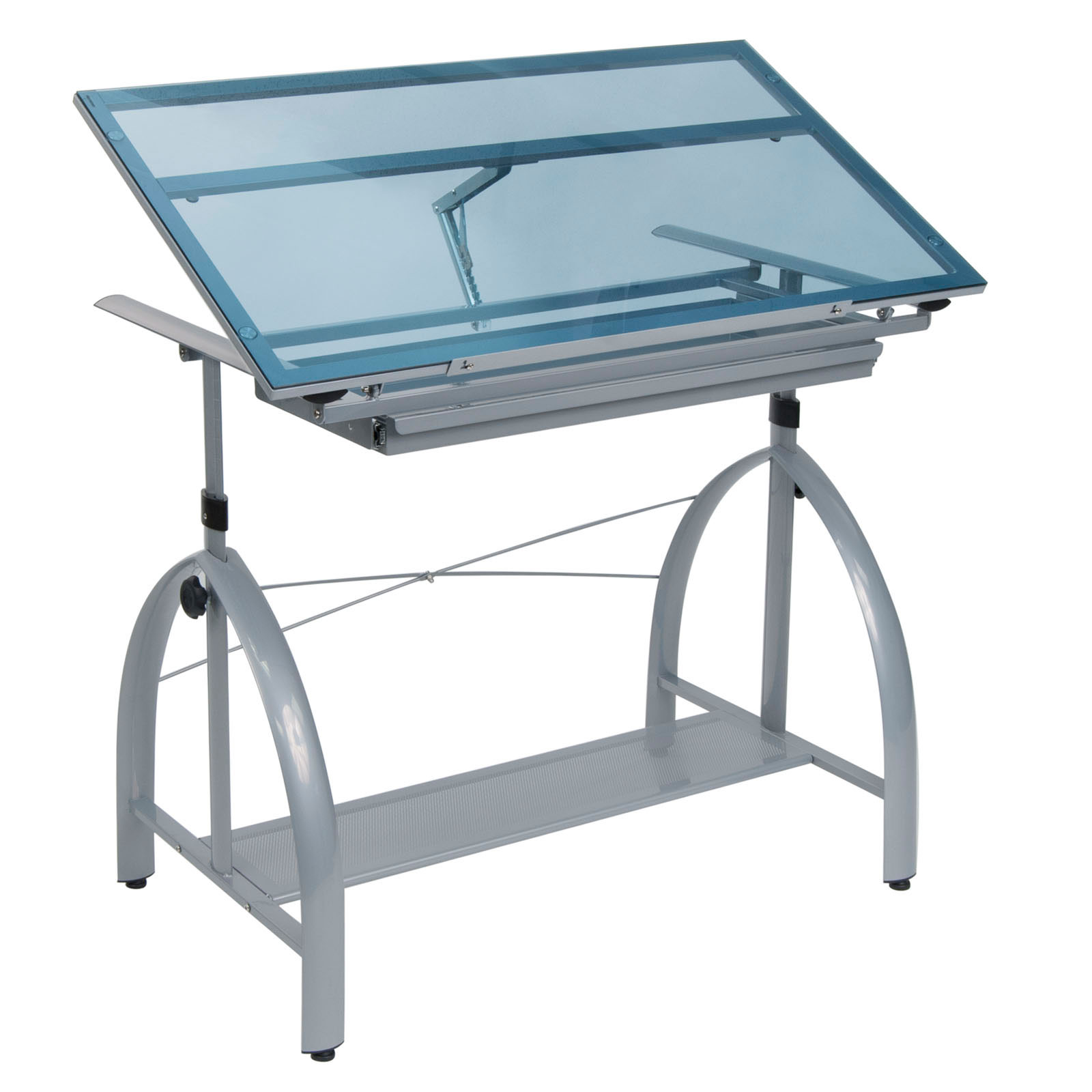 Groovy Details About Studio Designs Avanta Glass Adjustable Art Drafting And Drawing Table Desk Home Interior And Landscaping Analalmasignezvosmurscom