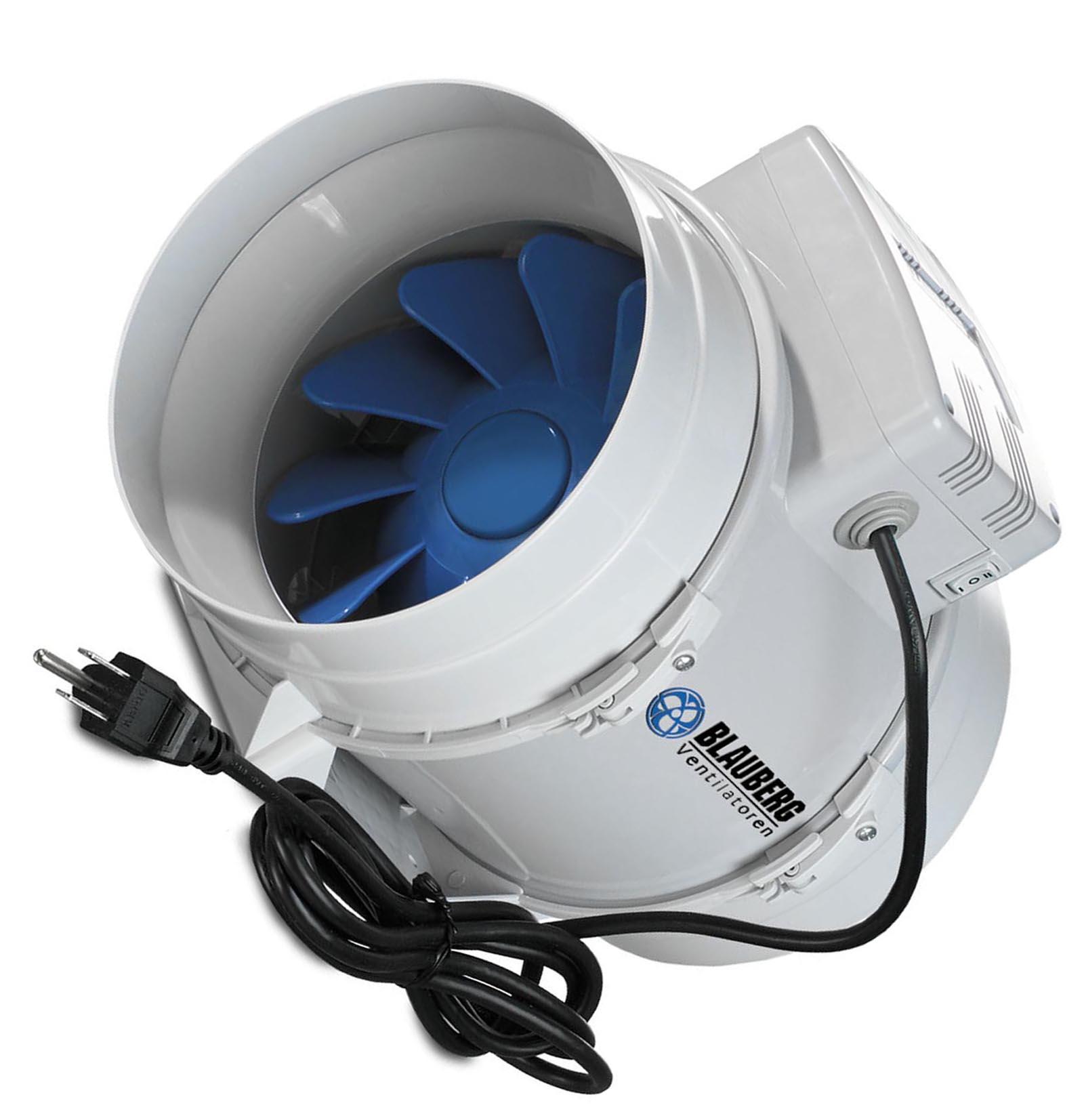 Adjustable Mini Air Blower : Blauberg quot cfm adjustable hydroponic turbo inline