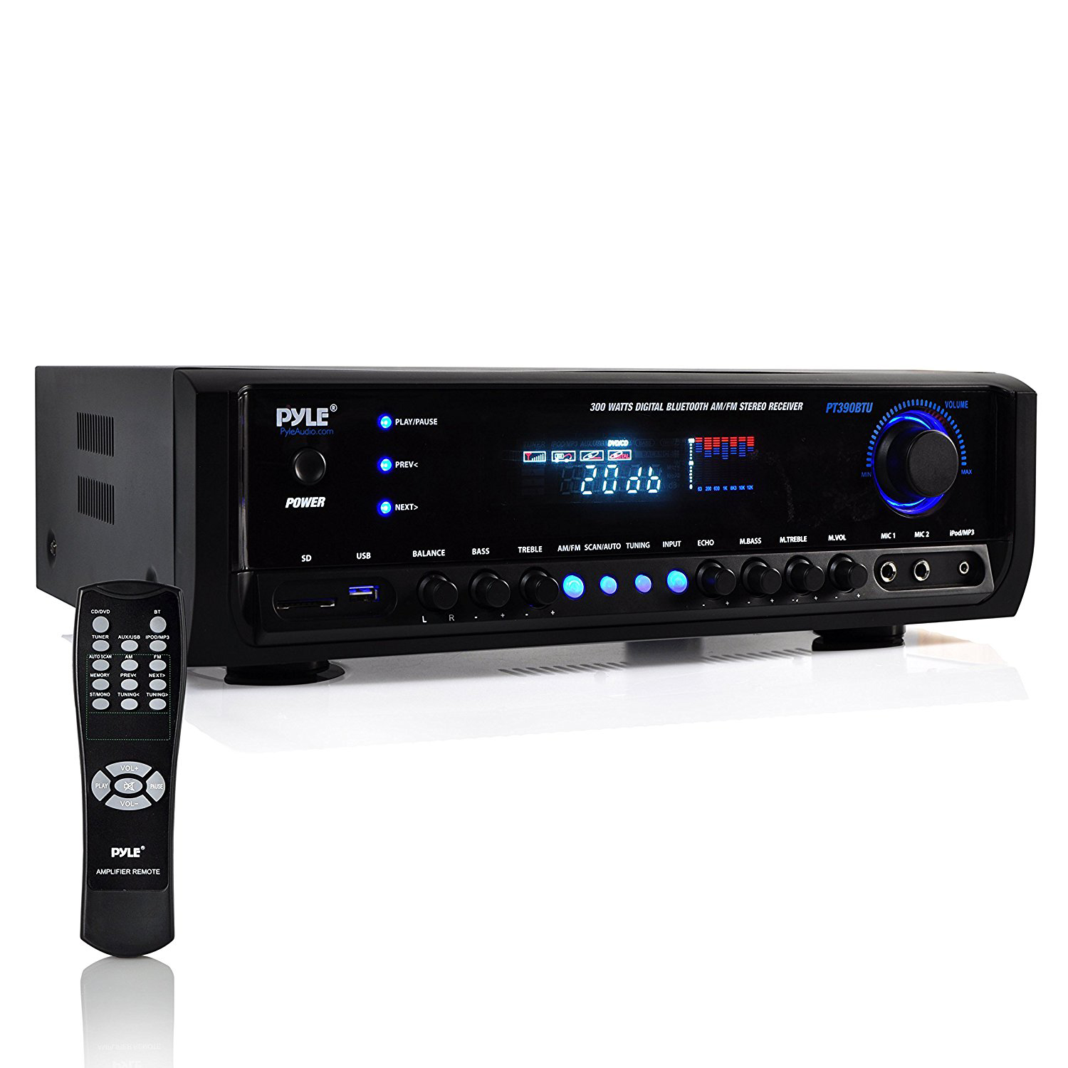 Pyle digital home theater bluetooth 4 channel radio aux - Home cinema bluetooth ...