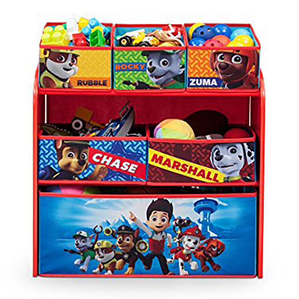 Soft White Kids Toy Chest Wood Box Bin Storage Organizer: Delta Children Nick Jr. Paw Patrol Multi Toy Box Bin Wood