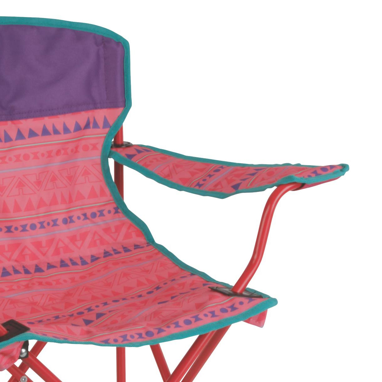 Coleman Kids Camping Glow In The Dark Quad Chair Tribal