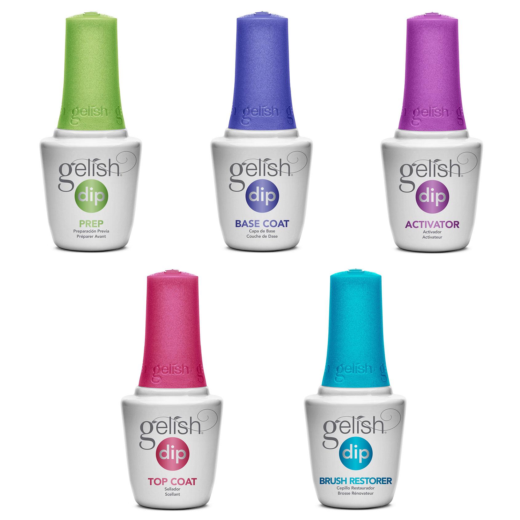 Gelish Soak Off Basix Acrylic Powder Nail Polish Dip Manicure Set ...