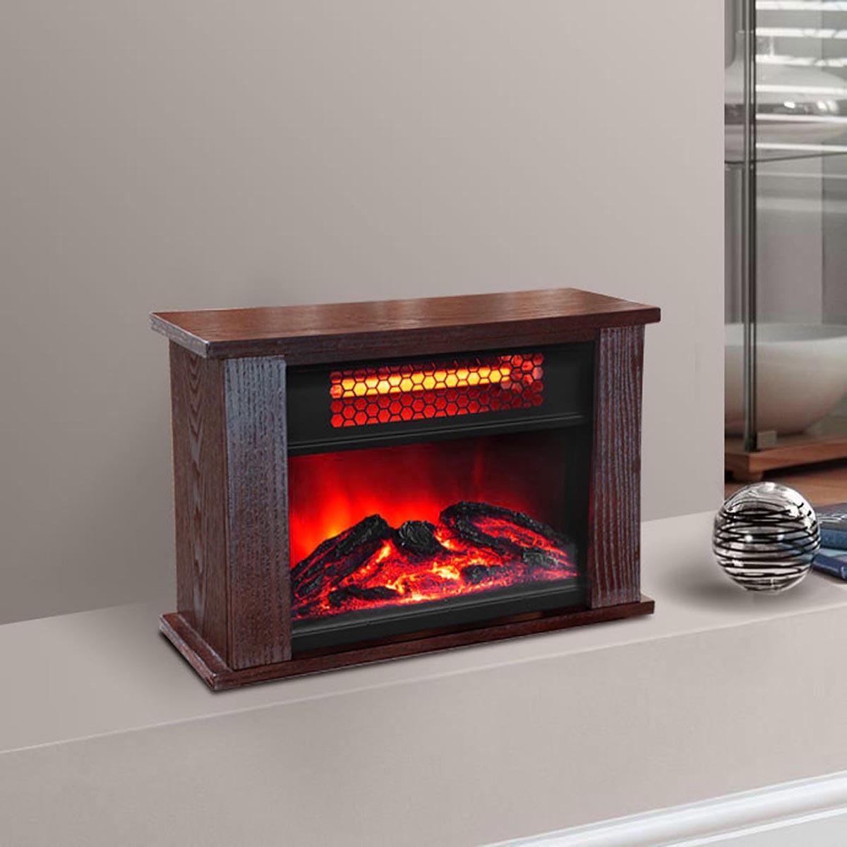 lifepro lifesmart 750 watt infrared quartz mini wood fireplace
