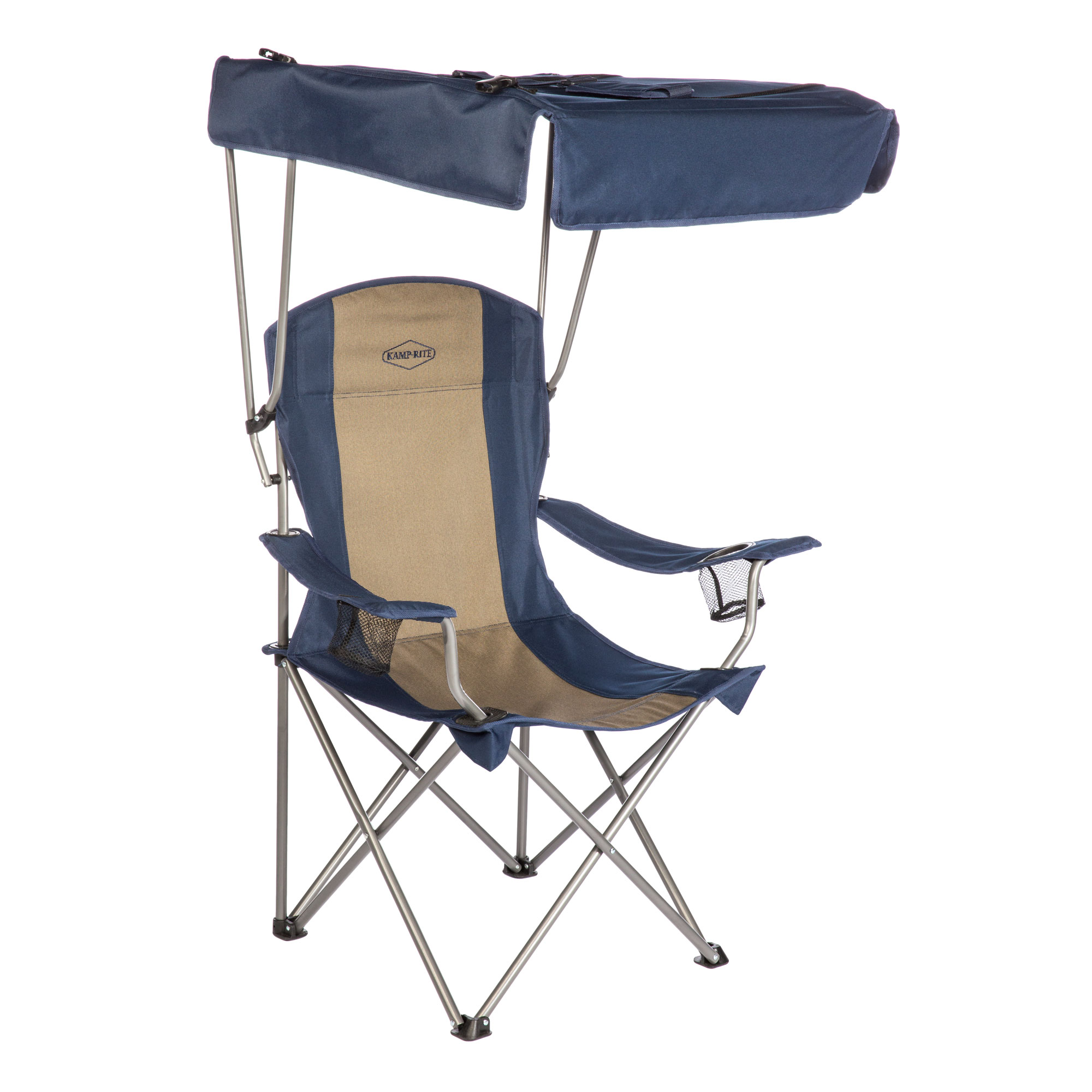 Kamp Rite Cc463 Outdoor Tailgating Camping Sun Shade Canopy Folding Lawn Chair