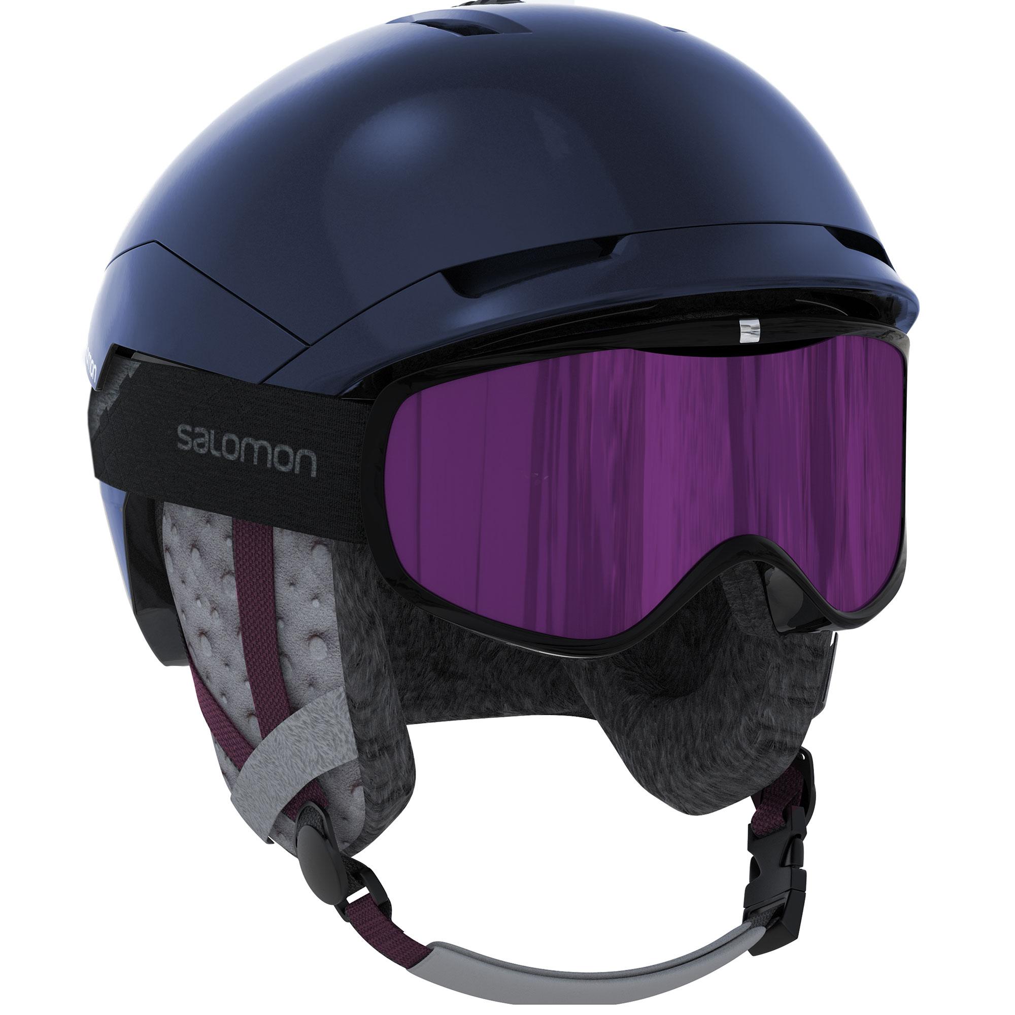 Details about Salomon Quest Access Womens Ski or Snowboard Helmet Size Medium, Wisteria Navy