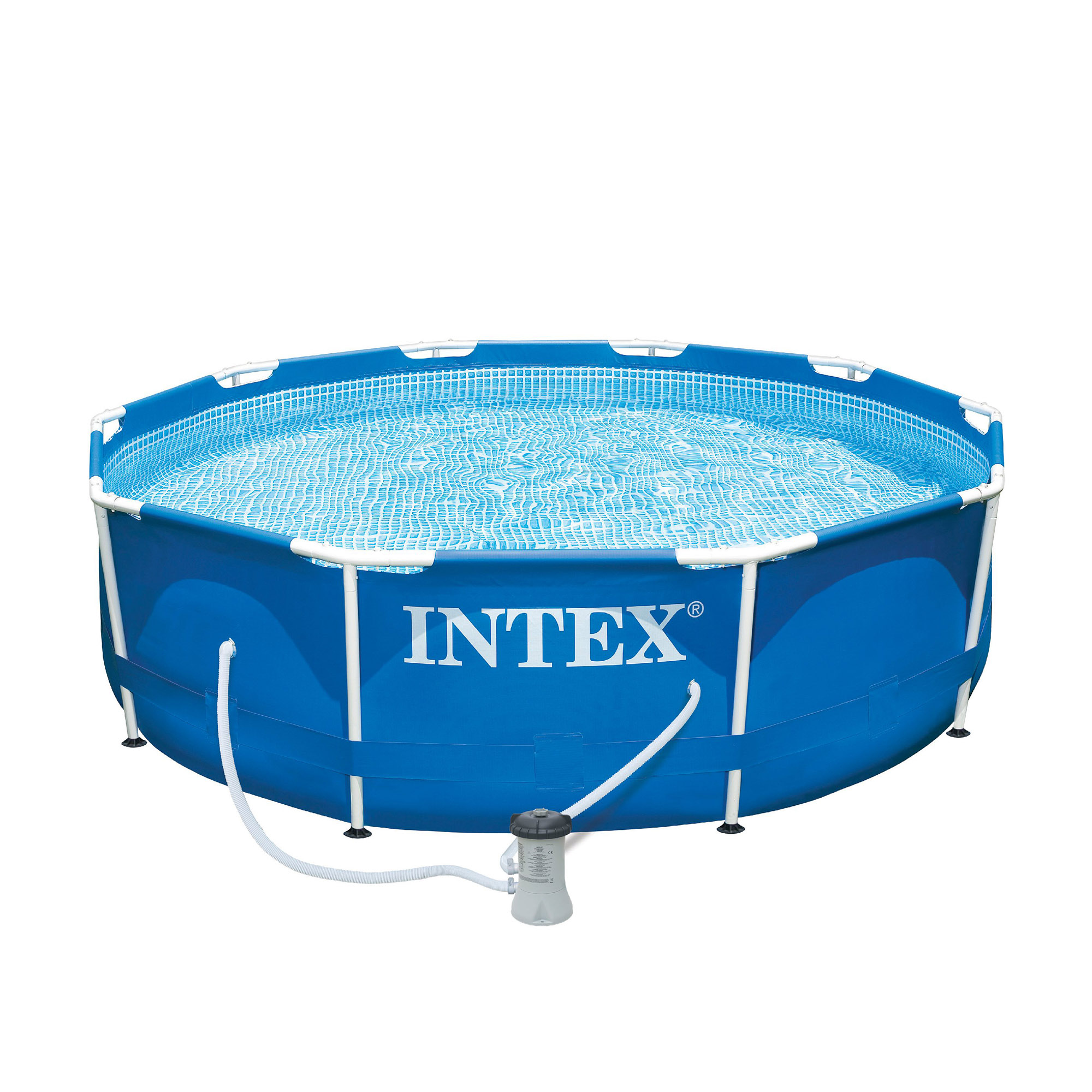 Intex 10 x 2 5 foot metal frame swimming pool set w for Swimming pool set angebot