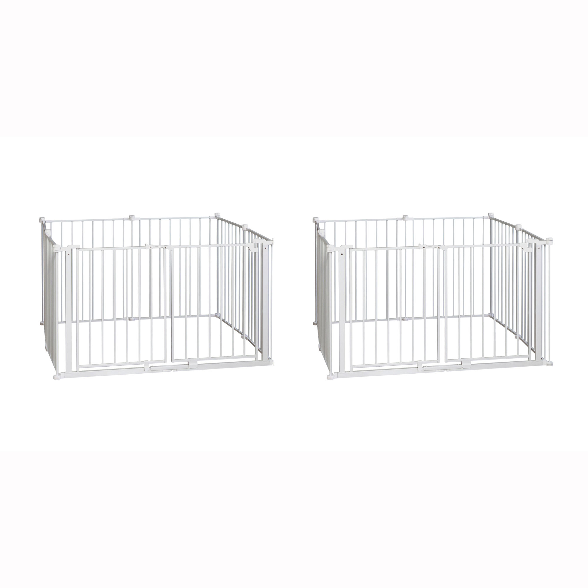 Regalo 8 Panel Metal Double Door Wide Baby Gate & Play