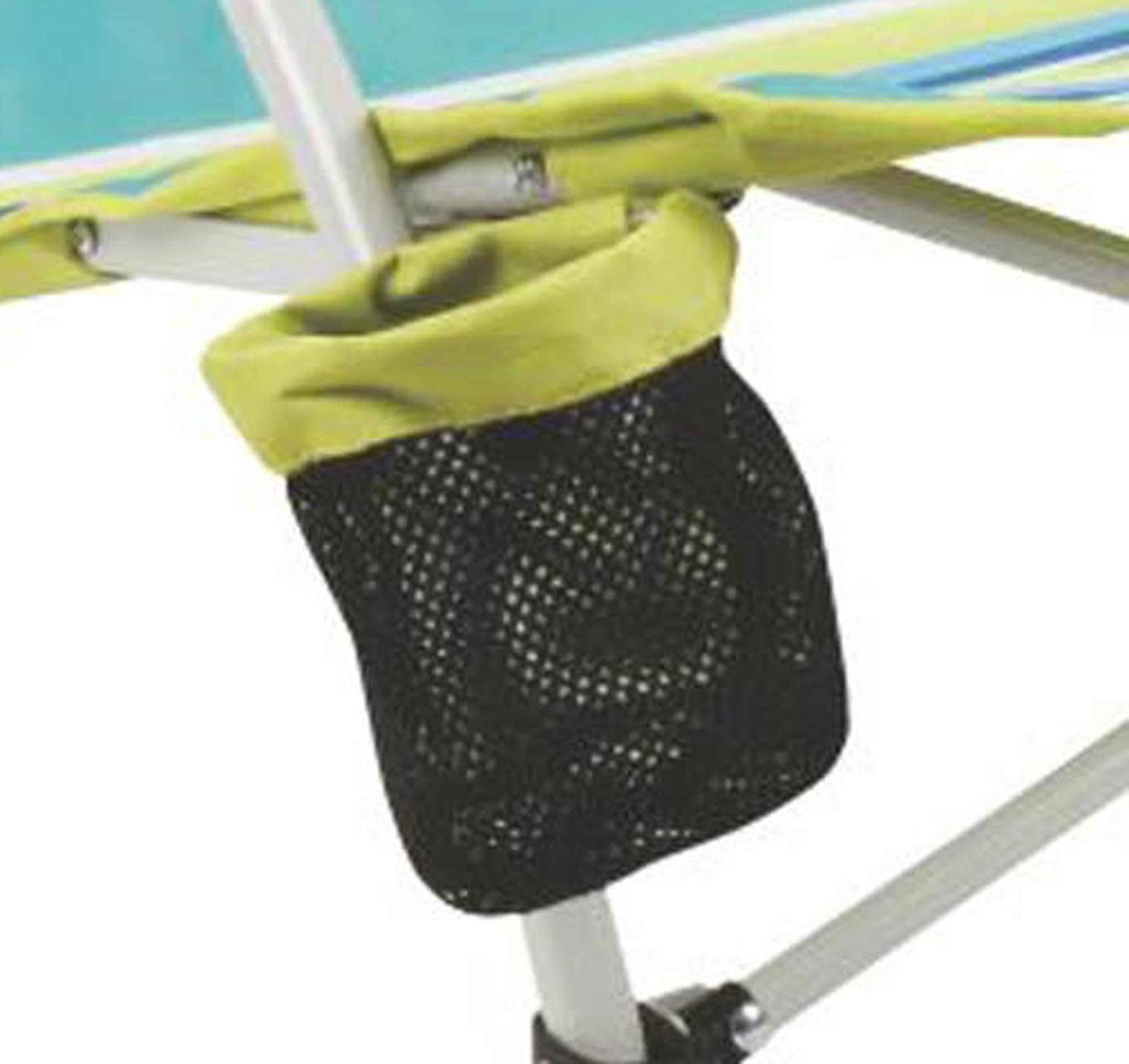 Coleman Utopia Breeze Beach Low Sling Camping Chair w Cup Holder & Carry Bag