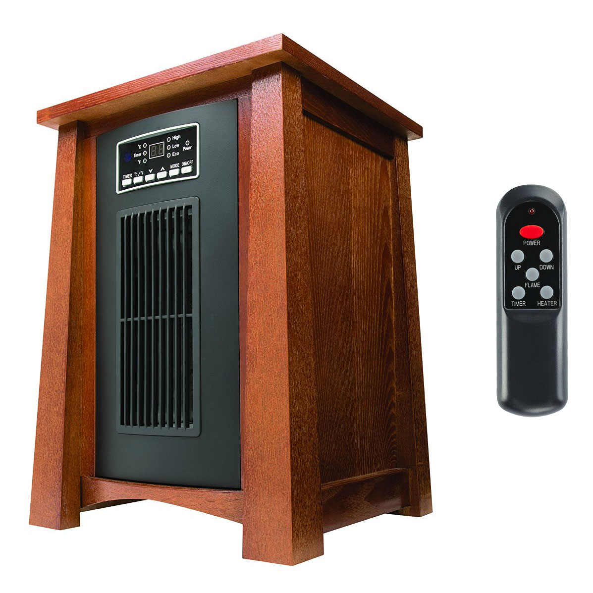 Haier 3 Setting 1500w 5100 Btu Infrared Heater W Oak