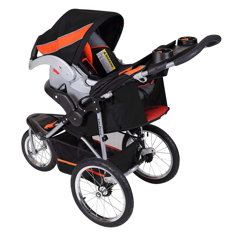 baby trend expedition travel system with stroller car seat millennium orange. Black Bedroom Furniture Sets. Home Design Ideas
