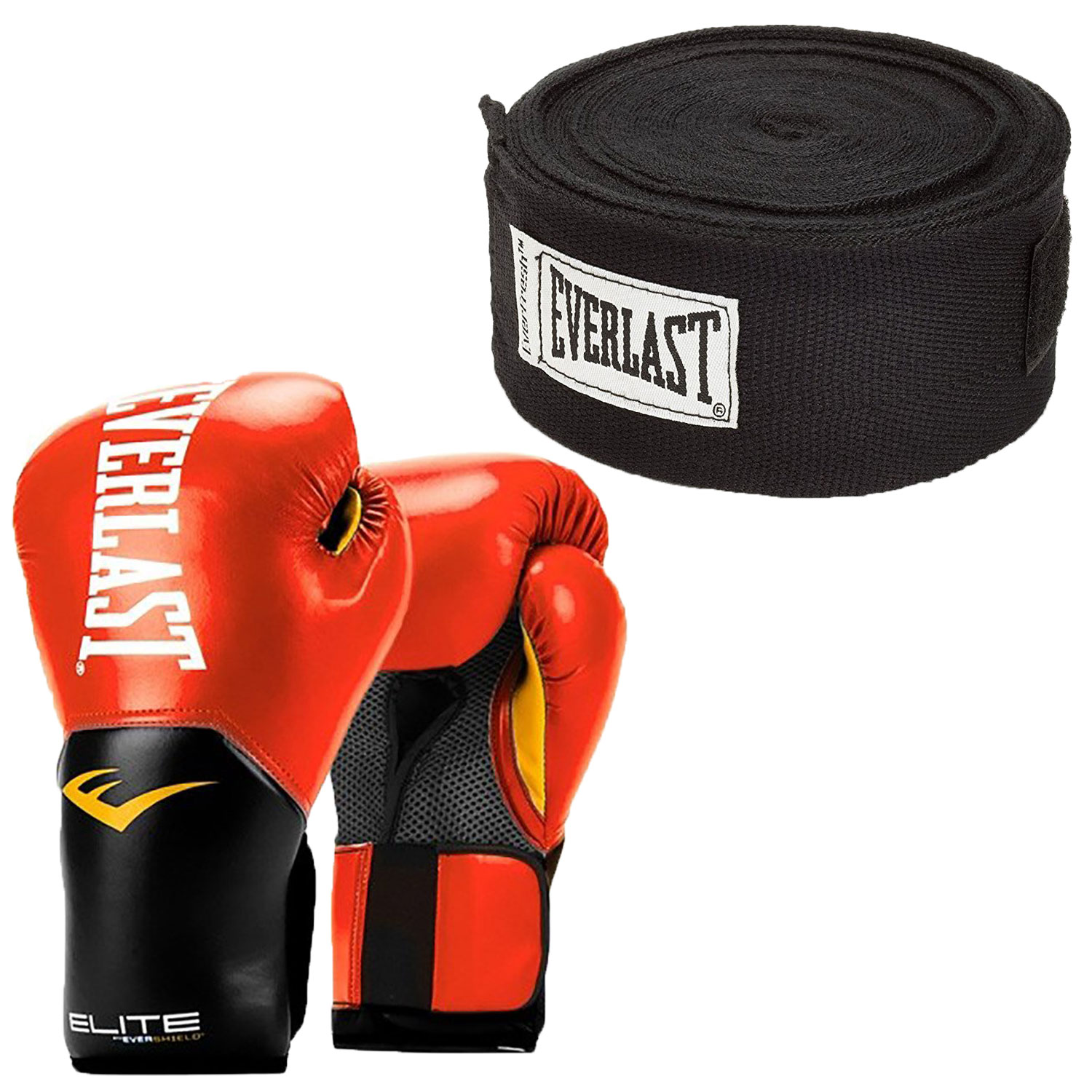 Red Everlast Elite Pro Style Leather Training Boxing Gloves Size 14 Ounces