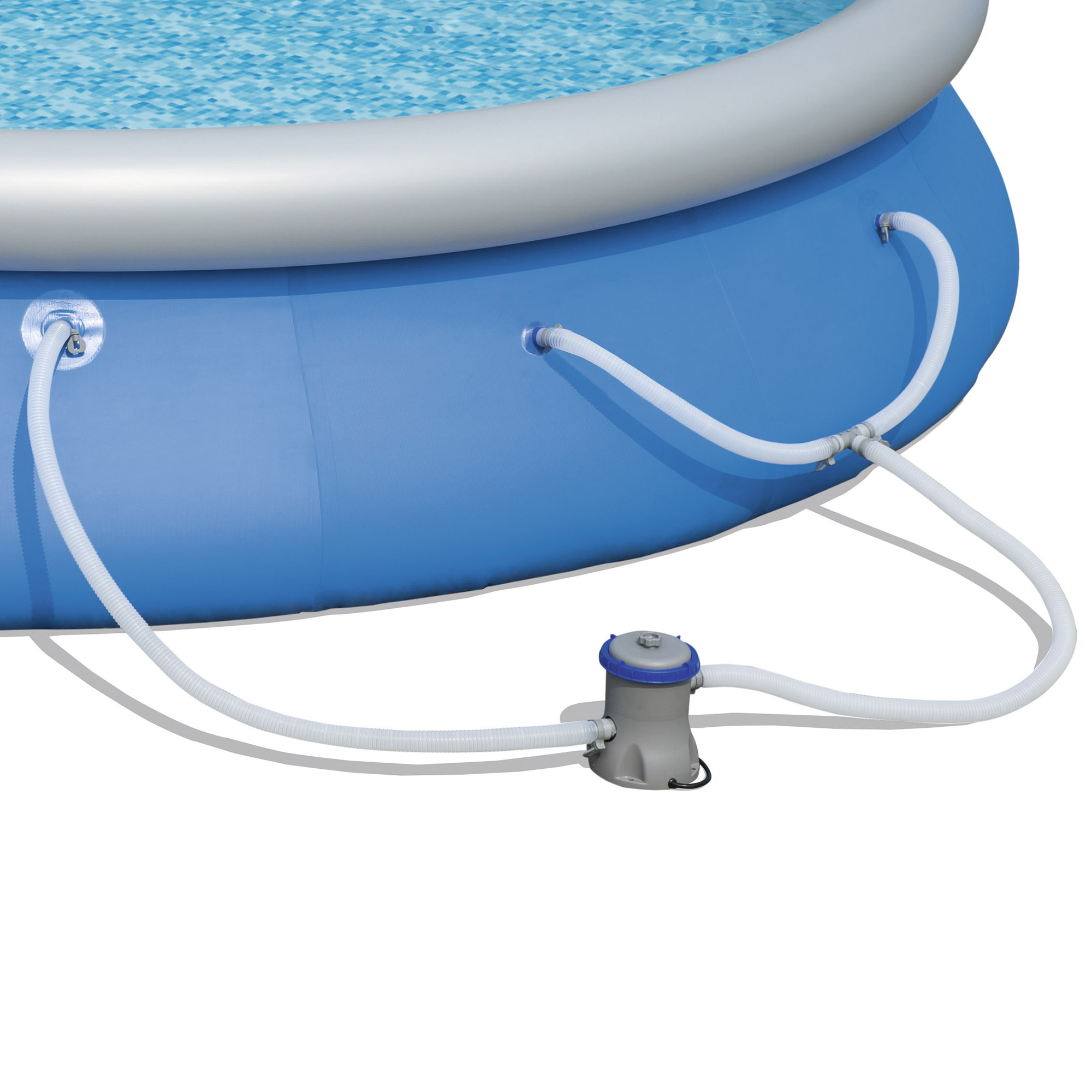 Bestway 15 39 X 33 Fast Set Inflatable Above Ground Swimming Pool W Filter Pump Ebay