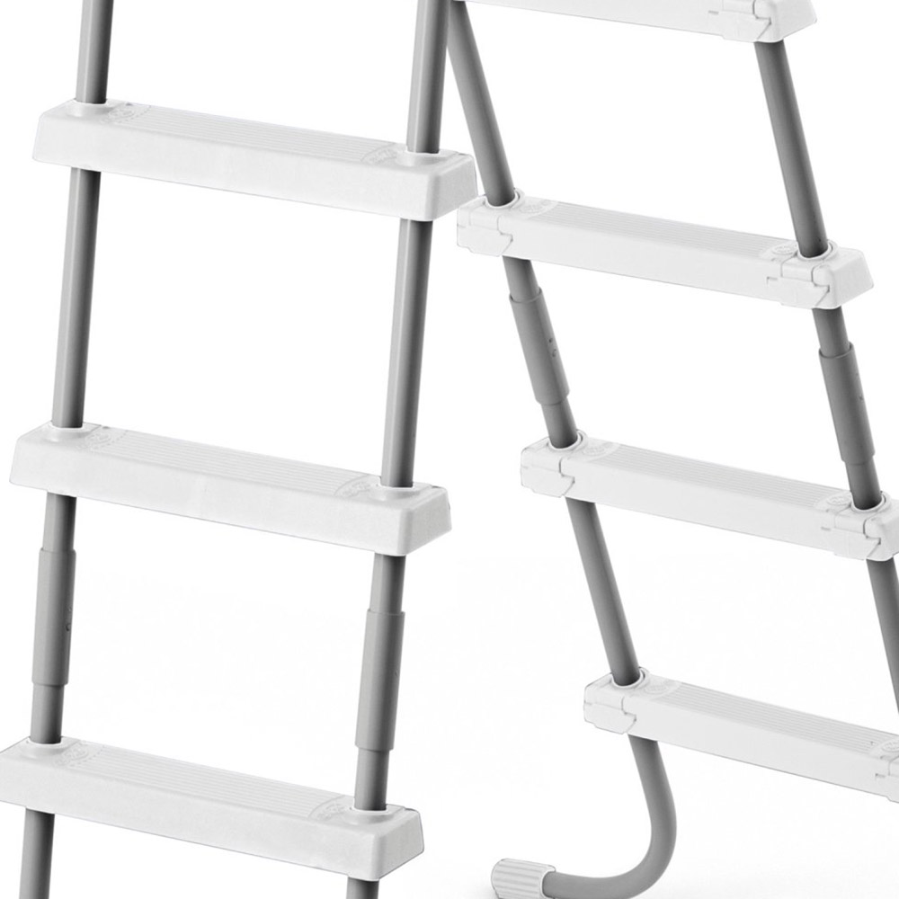 intex double sided steel pool ladder for 52 inch above ground pools 28059e