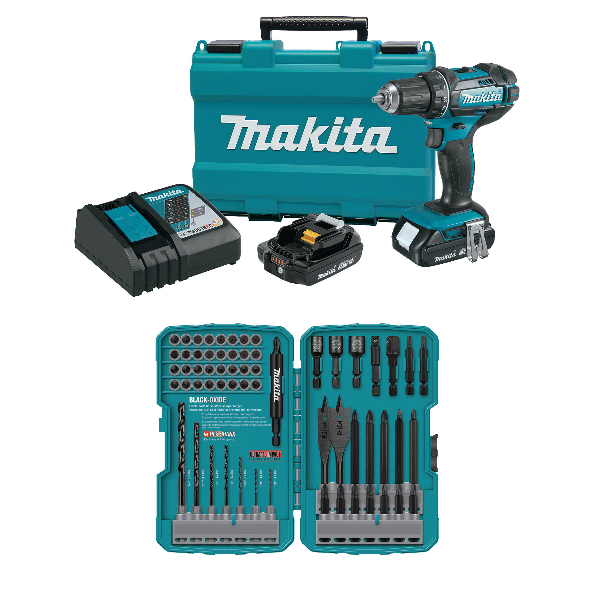 makita 18v lxt lithium ion cordless 1 2 inch driver drill. Black Bedroom Furniture Sets. Home Design Ideas