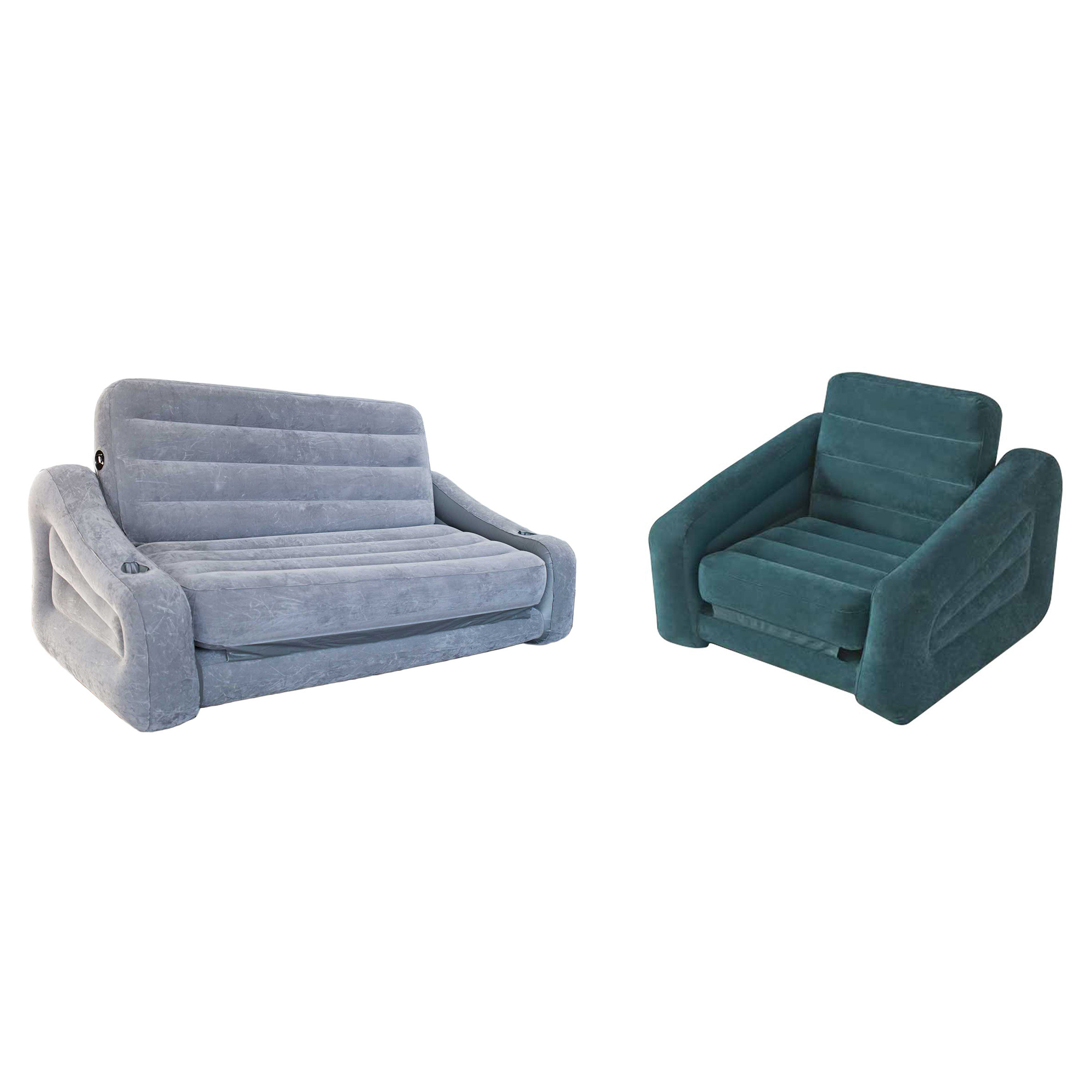 Intex queen inflatable pull out sofa airbed inflatable pull out chair sleeper