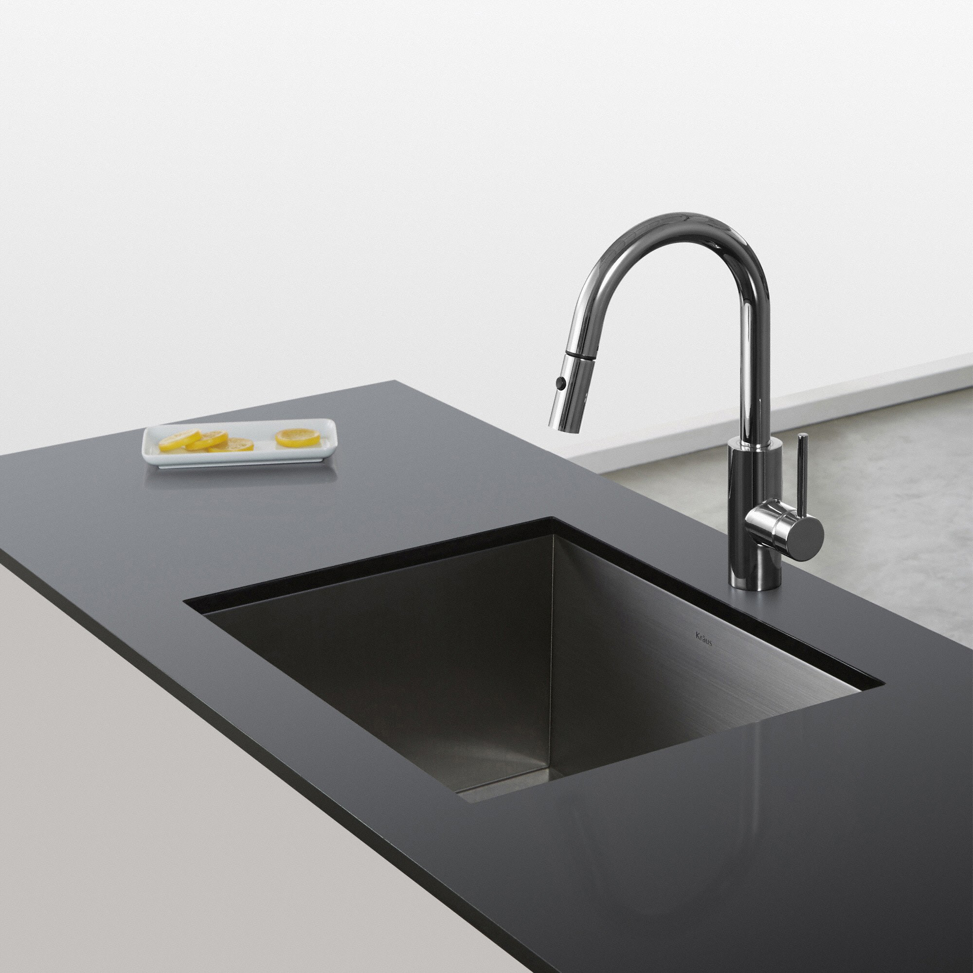 Kraus Oletto Single Handle Pull-Down Spray Head Kitchen Faucet ...
