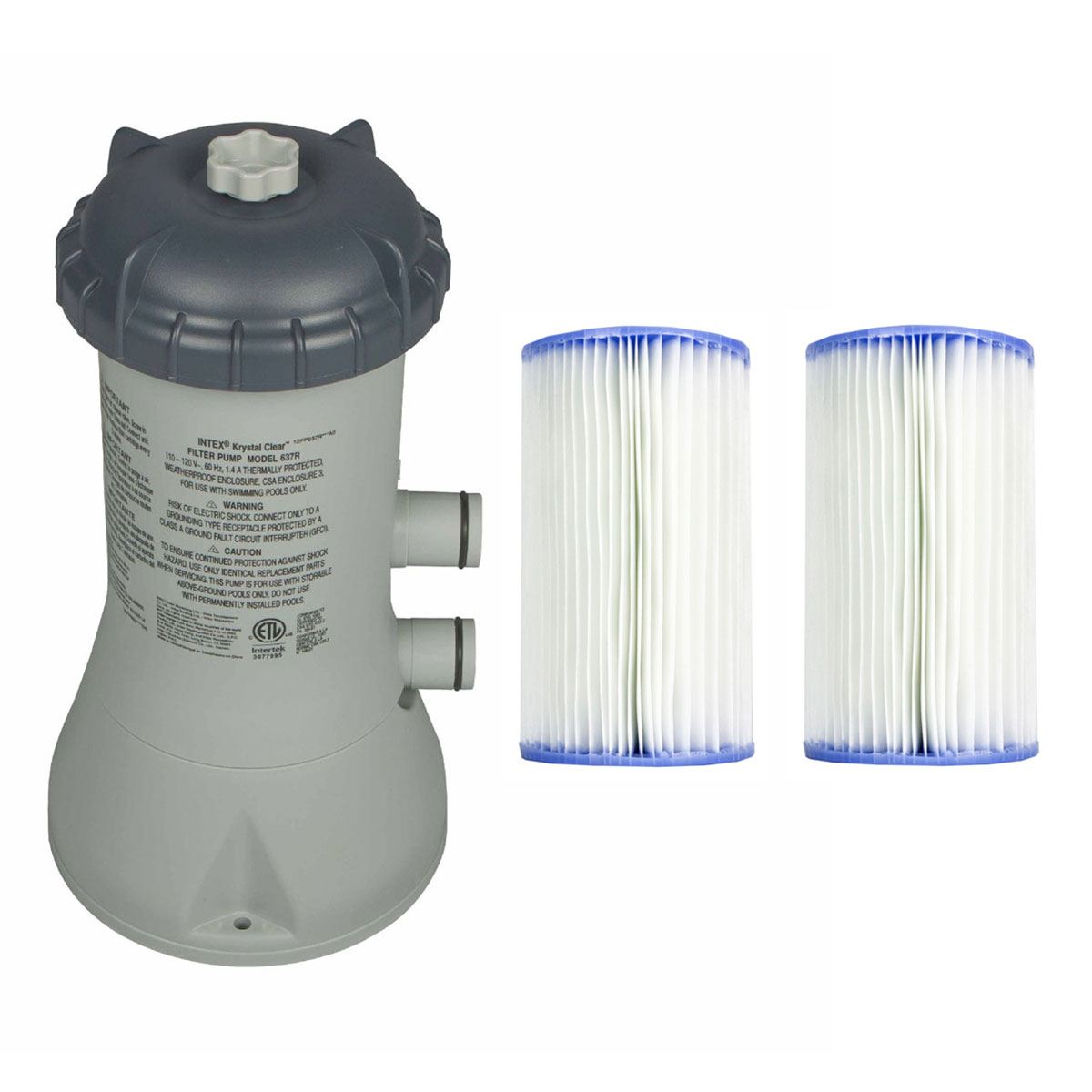 Details about Intex 1000 GPH Easy Set Above Ground Swimming Pool Filter  Pump System + Filters