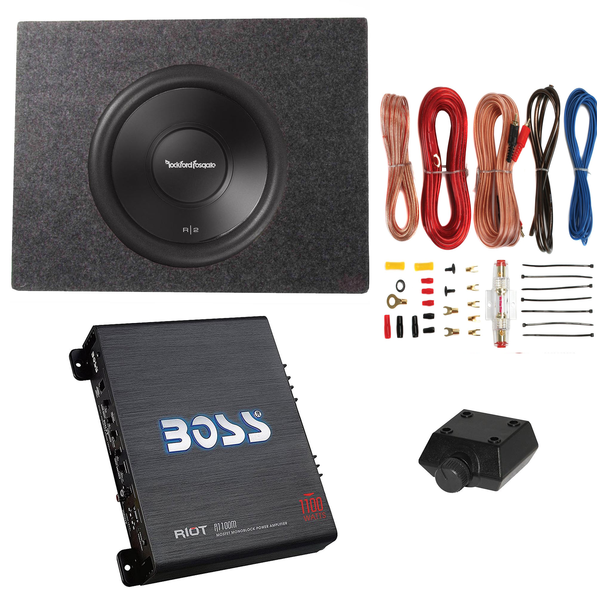 Rockford Fosgate 500w Subwoofer Q Power Truck Enclosure Boss Wiring Diagram For 12 4 Ohm 1100w Amplifier