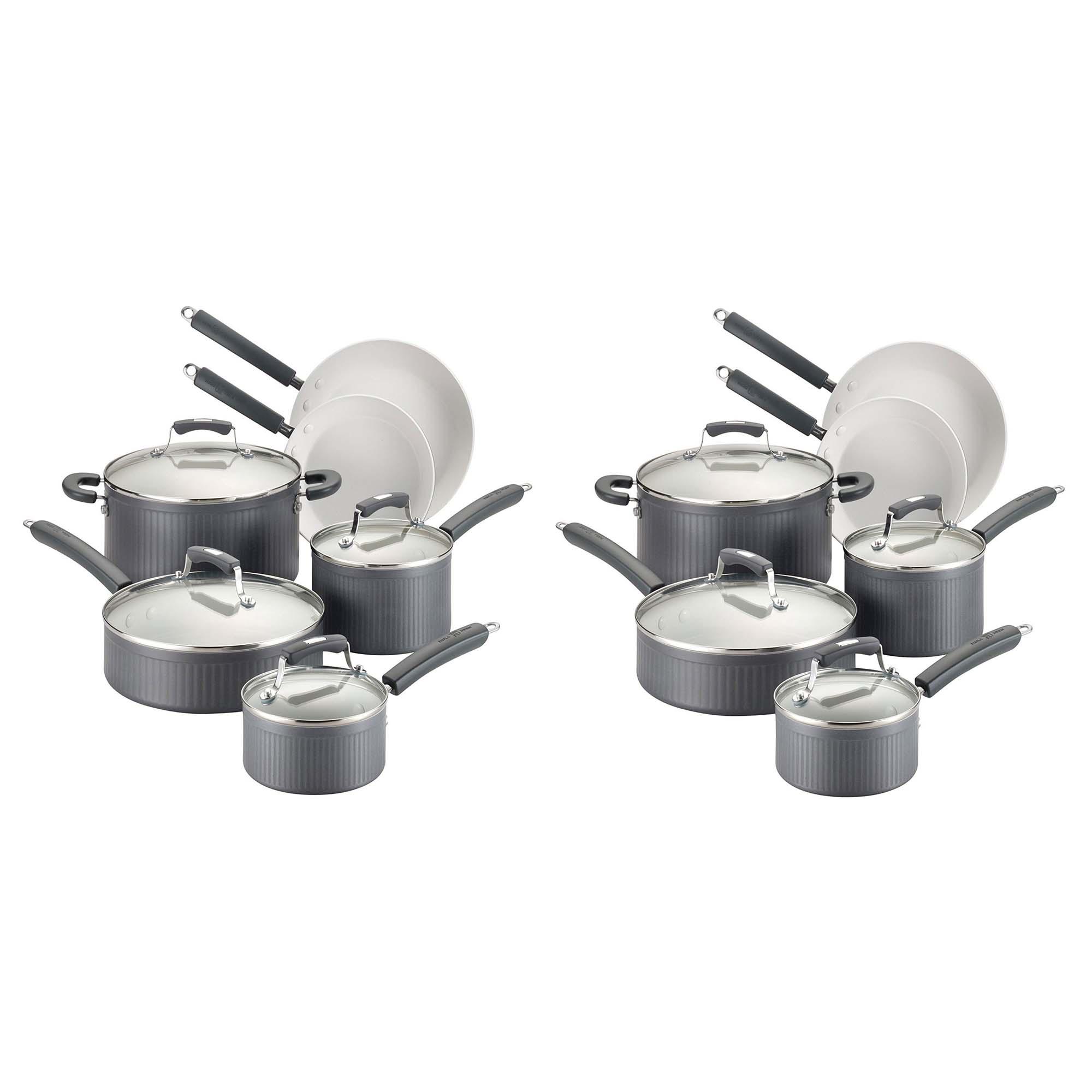 Paula Deen Savannah Collection Anodized Nonstick 10 Piece Cookware Set 2 Pack