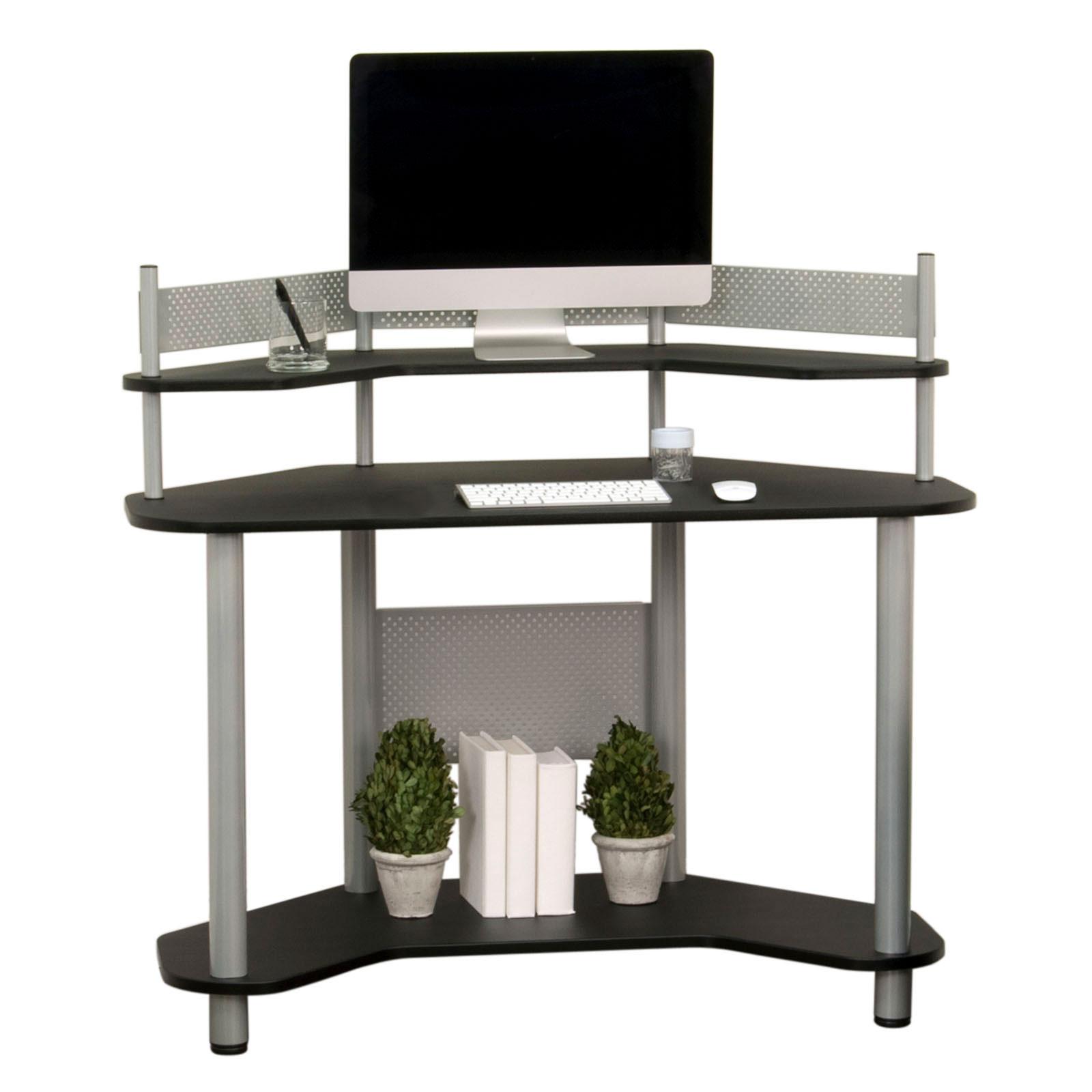 Studio Designs Calico Computer Home Office Study Workstation Corner Desk Black