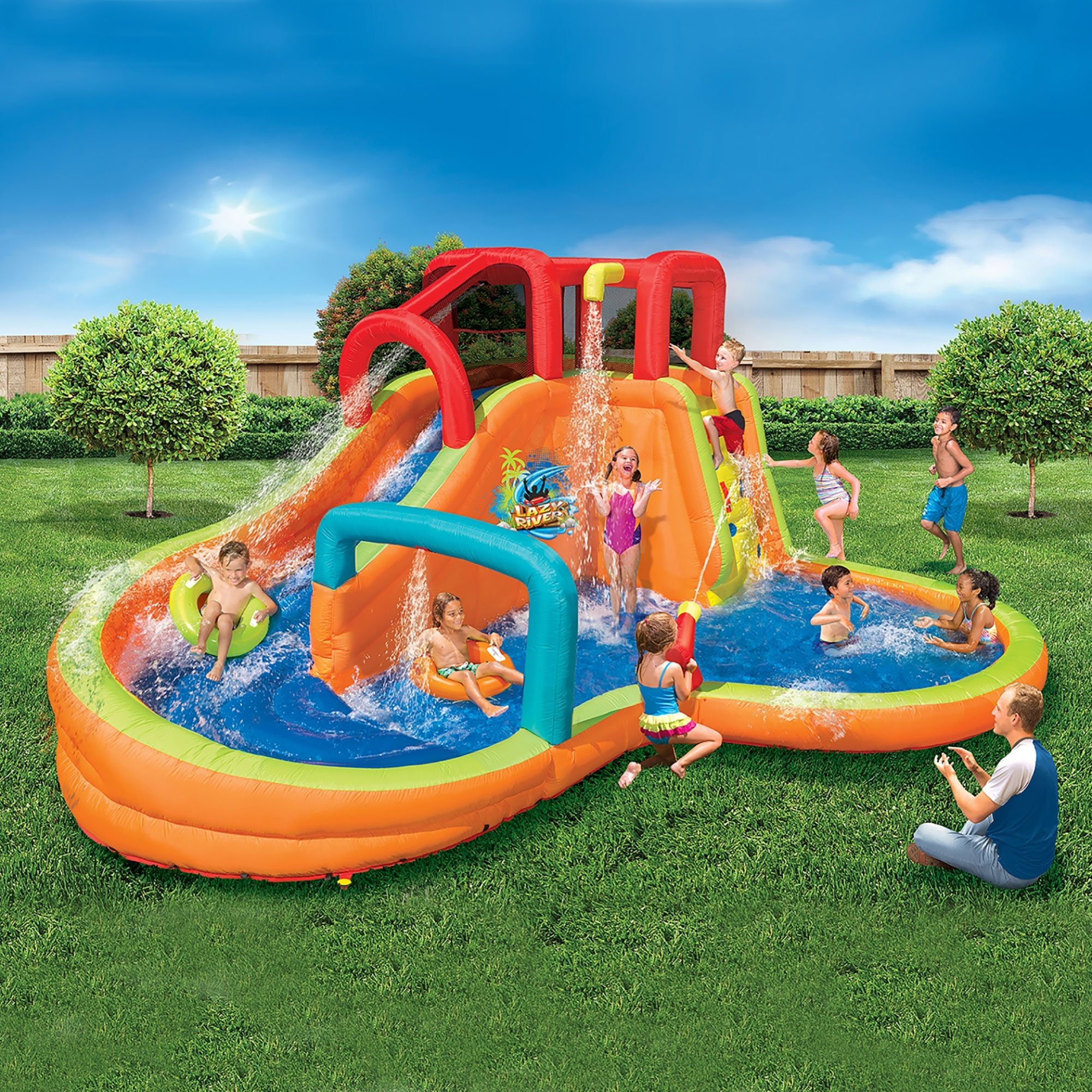 Banzai Kids Inflatable Outdoor Lazy River Adventure Water