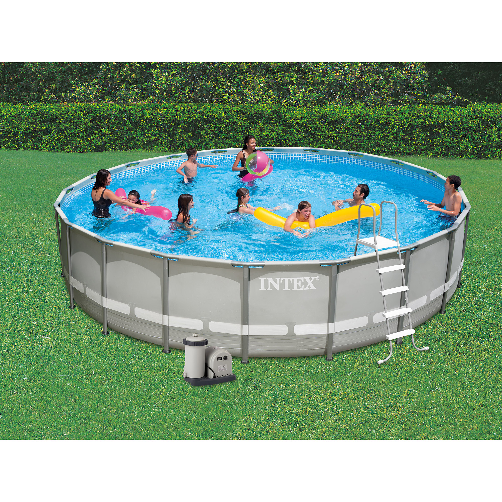 Intex 20 39 x 48 ultra frame above ground swimming pool set for Above ground pool set
