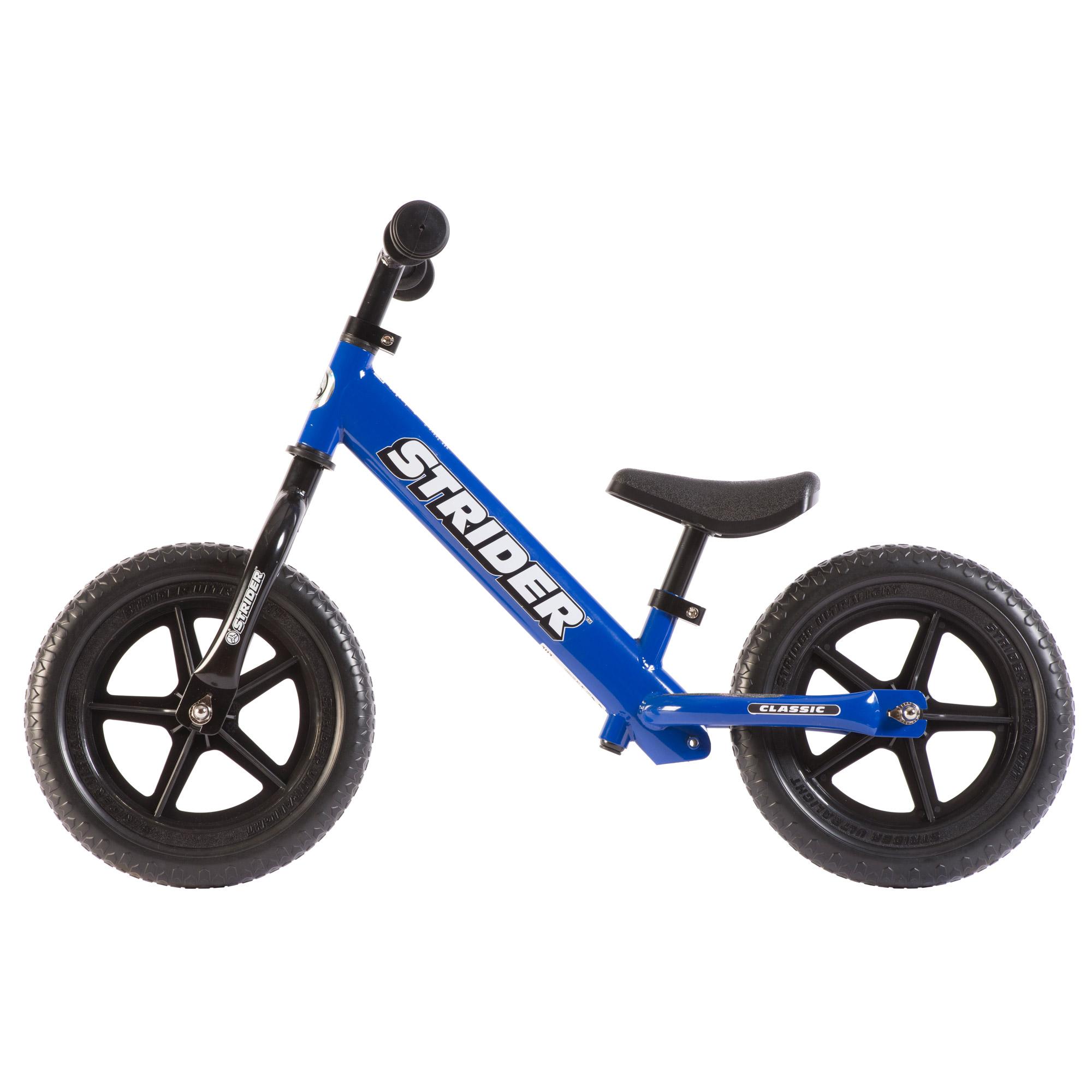 Details about Strider 12 Classic Entry Balance Bike for Toddler 18 - 36 Month, Blue + Ski Set