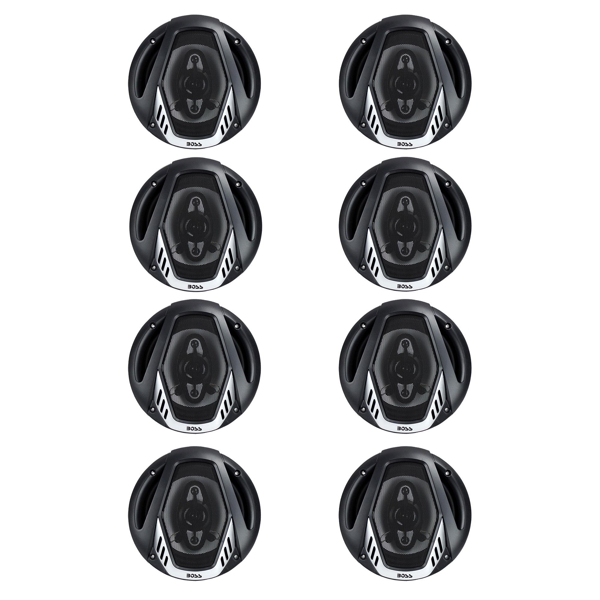 "BOSS NX654 6.5"" 400W 4-Way Car Audio Coaxial Speakers"