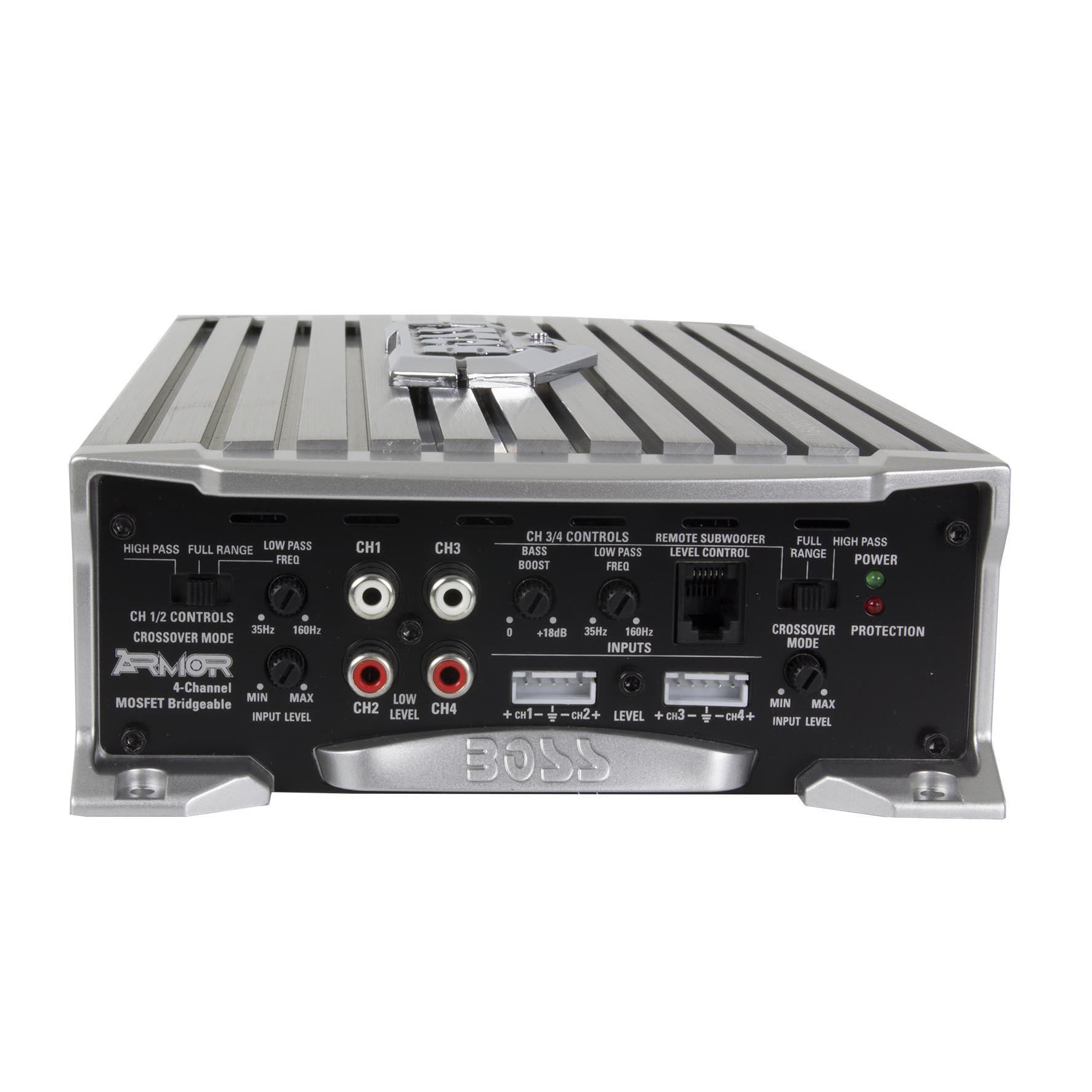 Boss Audio 1600 Watt 4 Channel Car Amplifier Power With Remote Wiring Kit 1600w Digital Bridgeable Pro Don T Ar16004
