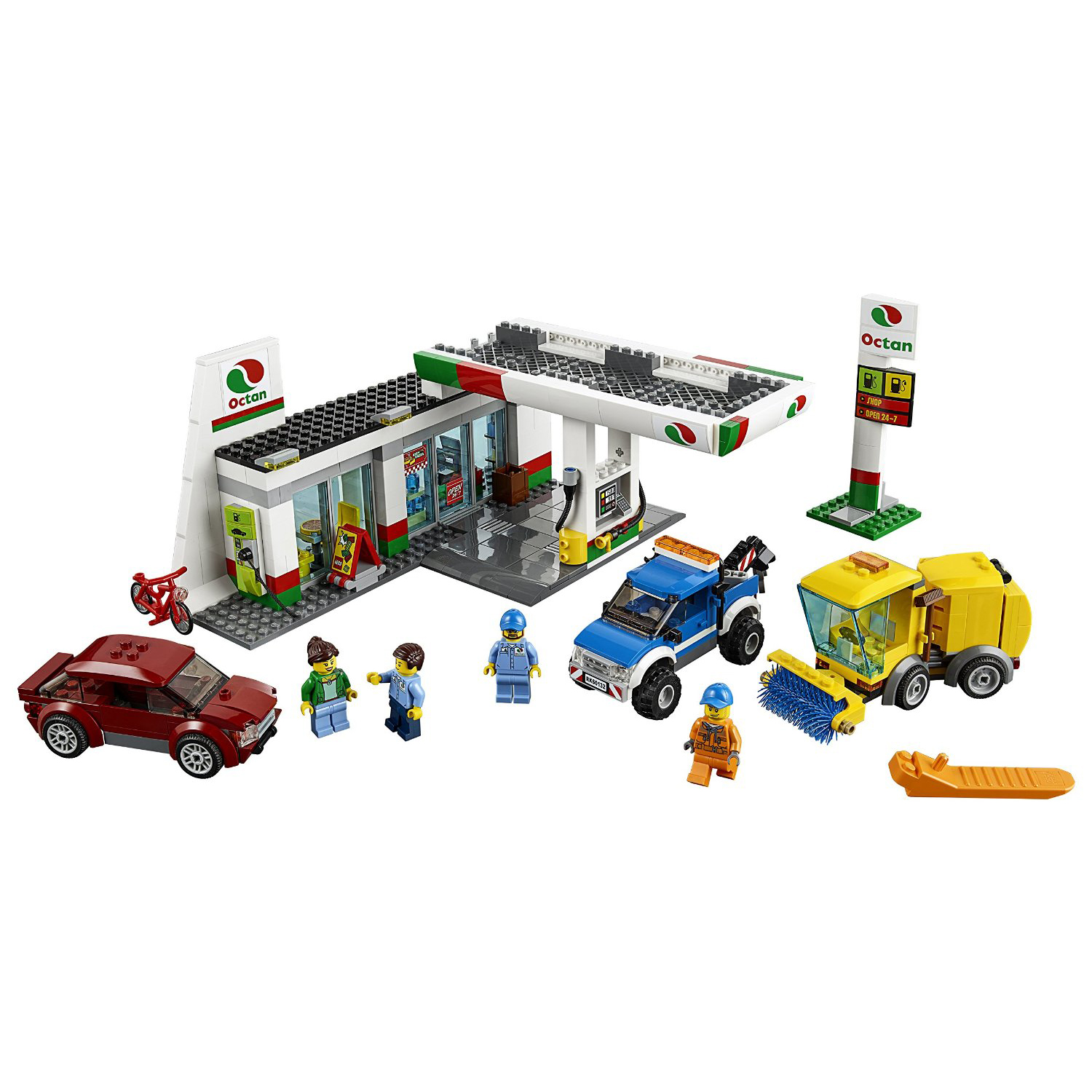 LEGO City Town Service Station Car Wash Tow Truck Kids