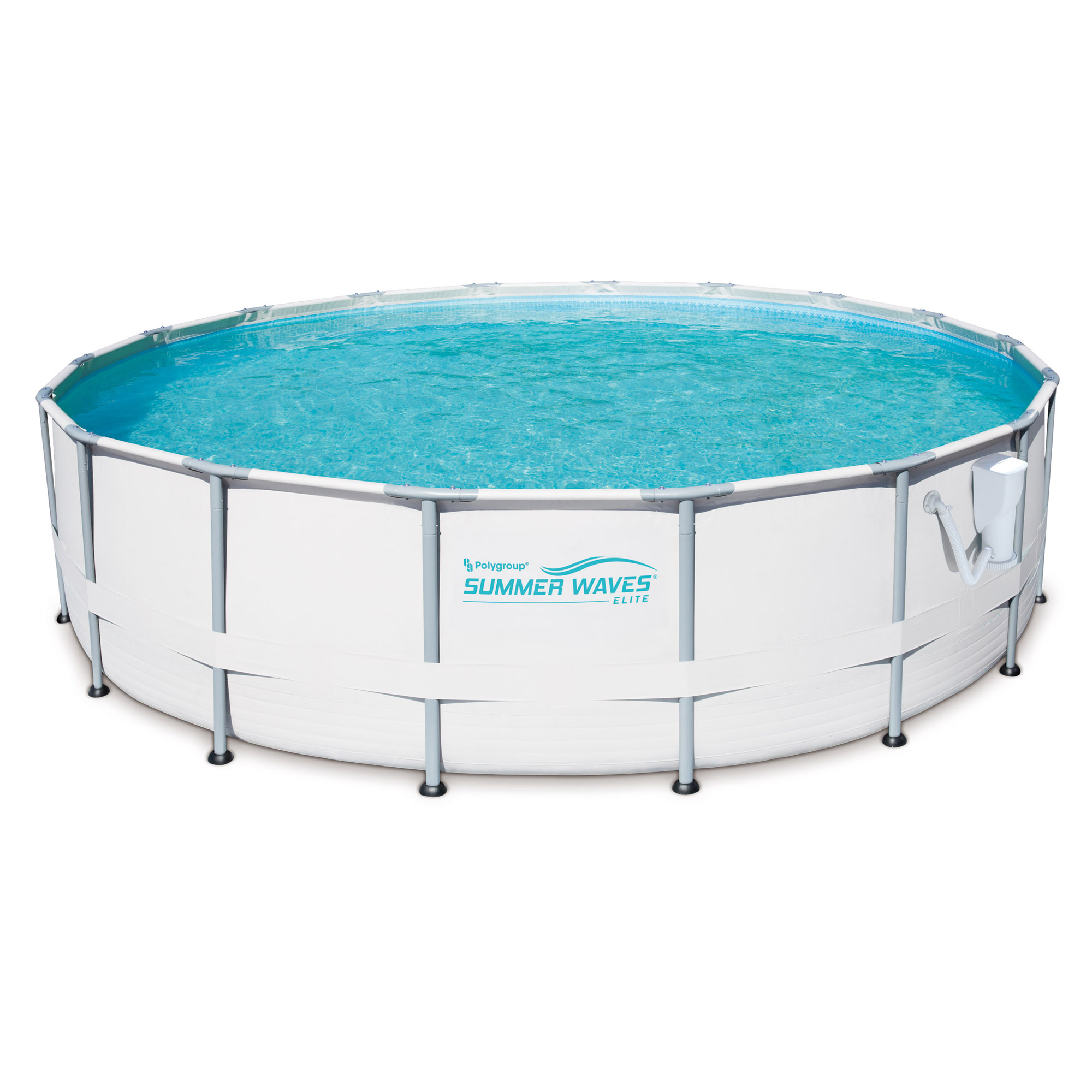 Summer waves elite 18 39 foot metal frame above ground pool set with filter pump ebay - Steel frame pool ...
