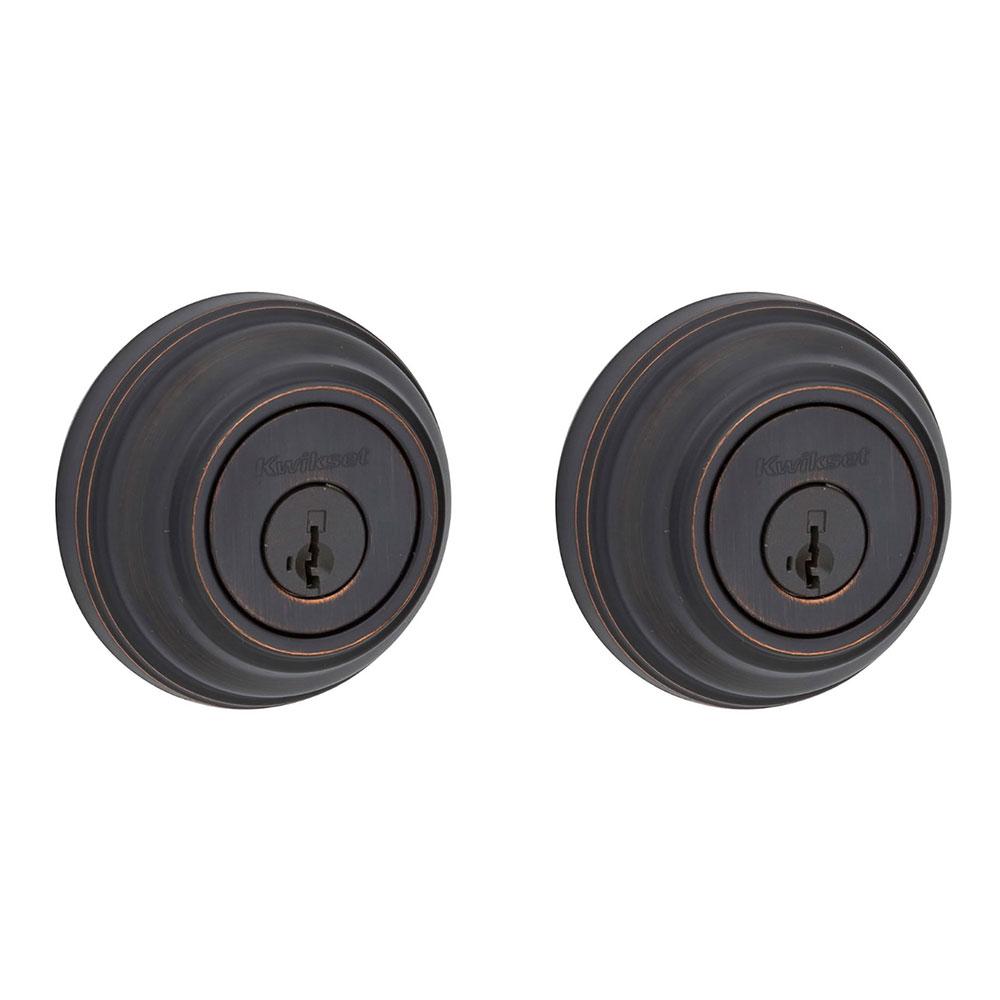 2 Pack Kwikset 985 Series Double Cylinder Keyed Deadbolt Venetian Bronze
