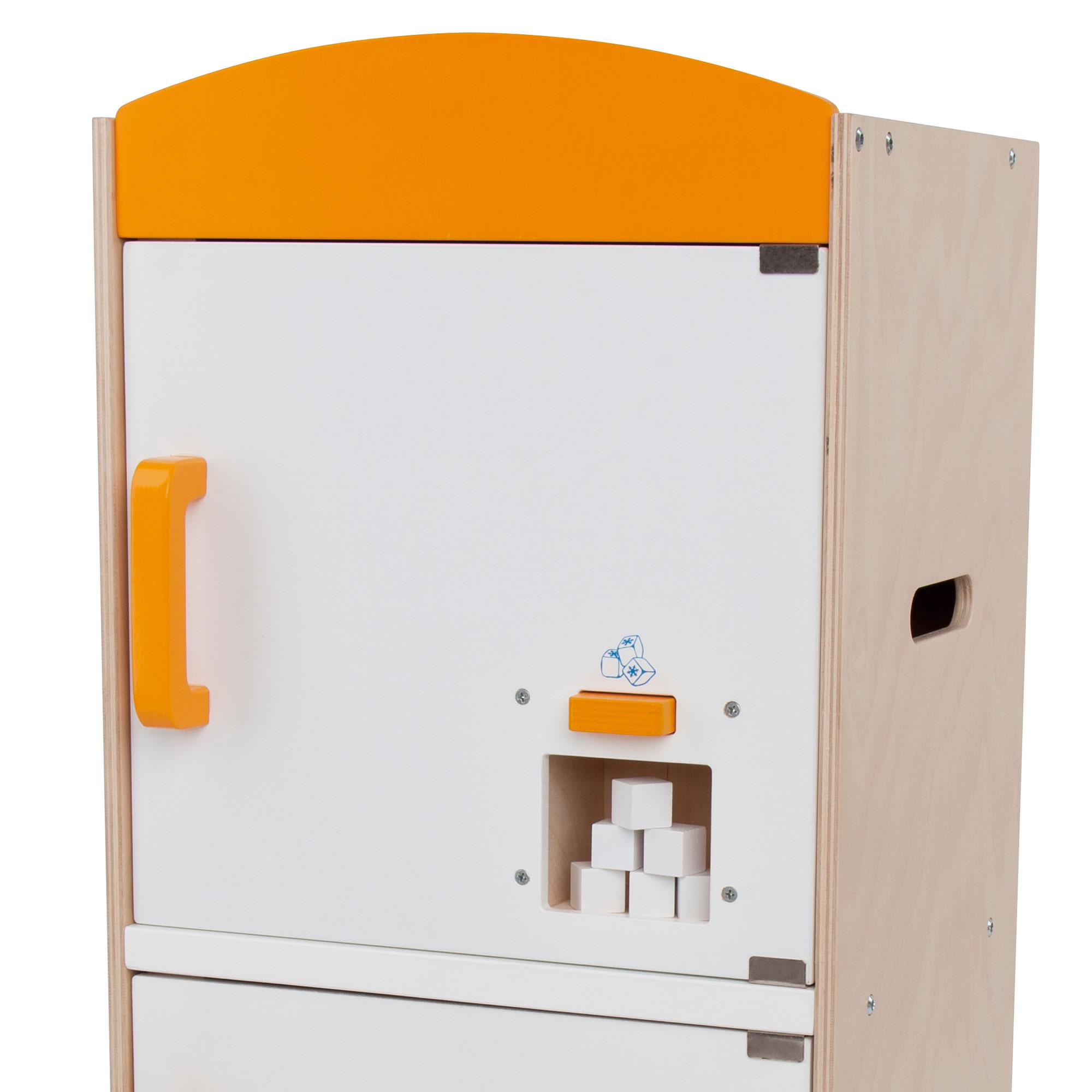 Dream Kitchen Toy Refrigerator: Hape Gourmet Wooden Kitchen Toddler & Kids Play Pretend Toy Fridge In White 6943478004283