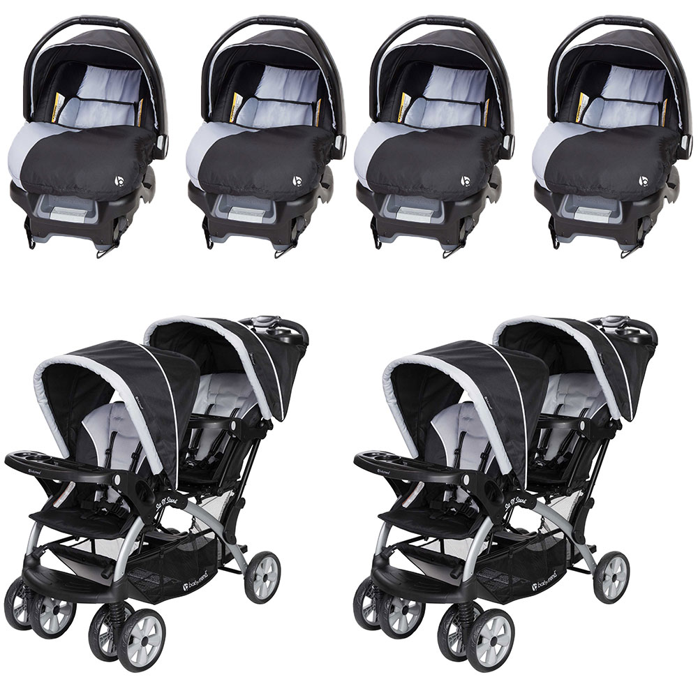 Baby Trend Infant Car Seat 4 Pack Amp Sit N Stand Double